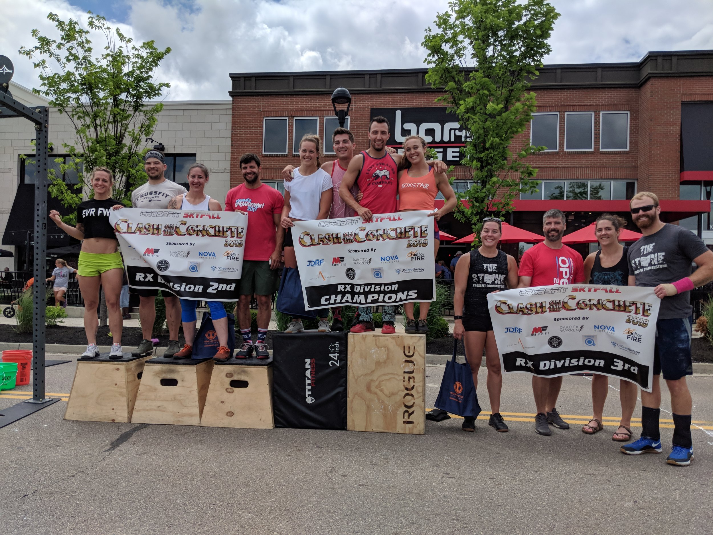 Congrats to Ashley, Stephen, Megan and Matt for taking 2nd place overall in the Rx division over the weekend. Great teamwork led them to the podium!  Friday we will be having a diaper WOD for Derek, Katie and their daughter. Bring a pack of diapers if you like. We will be grilling out chicken, burgers and hotdogs after the 5:30 workout. Bring a side dish to share and a beverage of your choice for yourself.