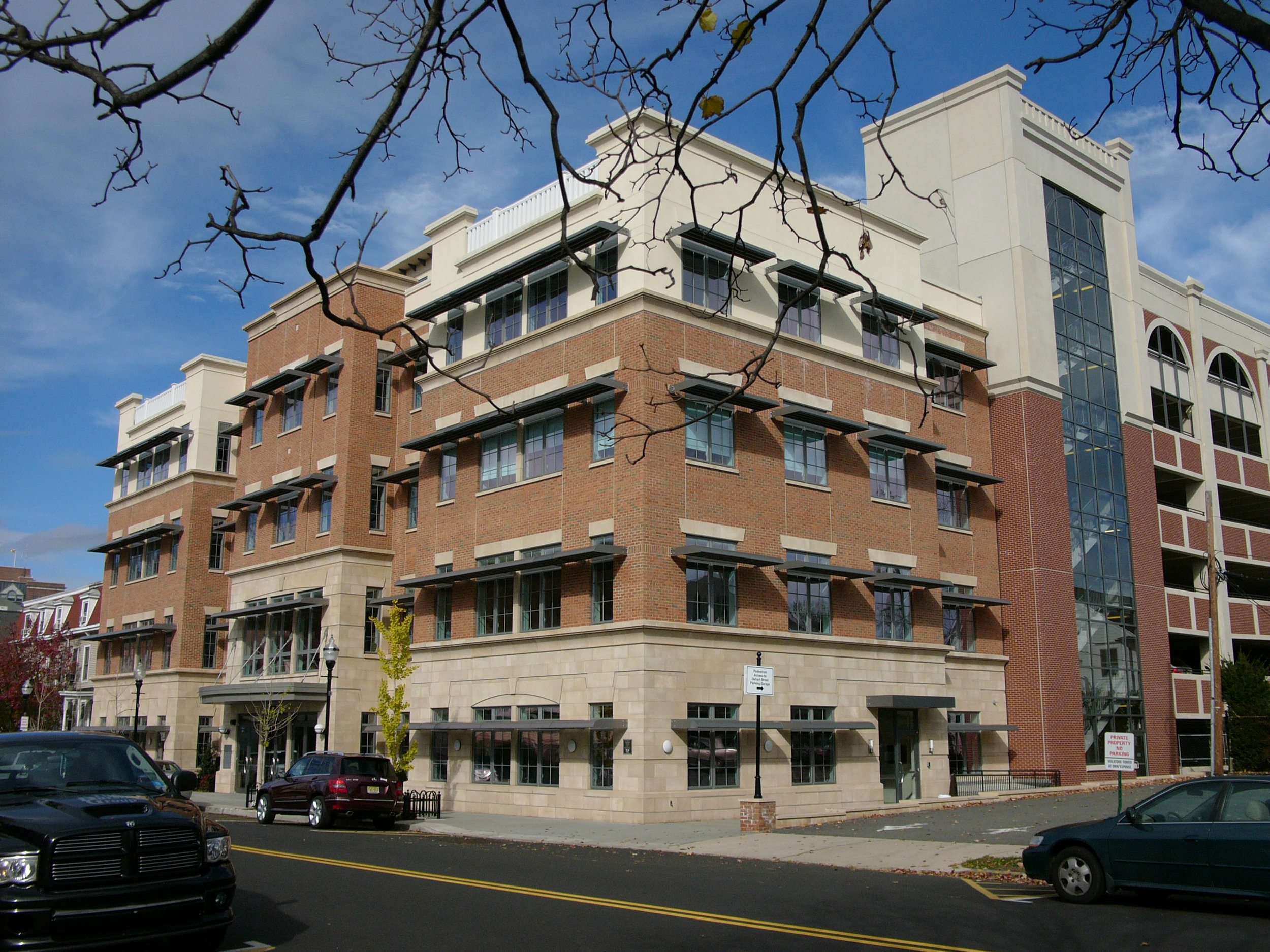 The new LEED-accredited office building for the Morristown Parking Authority.
