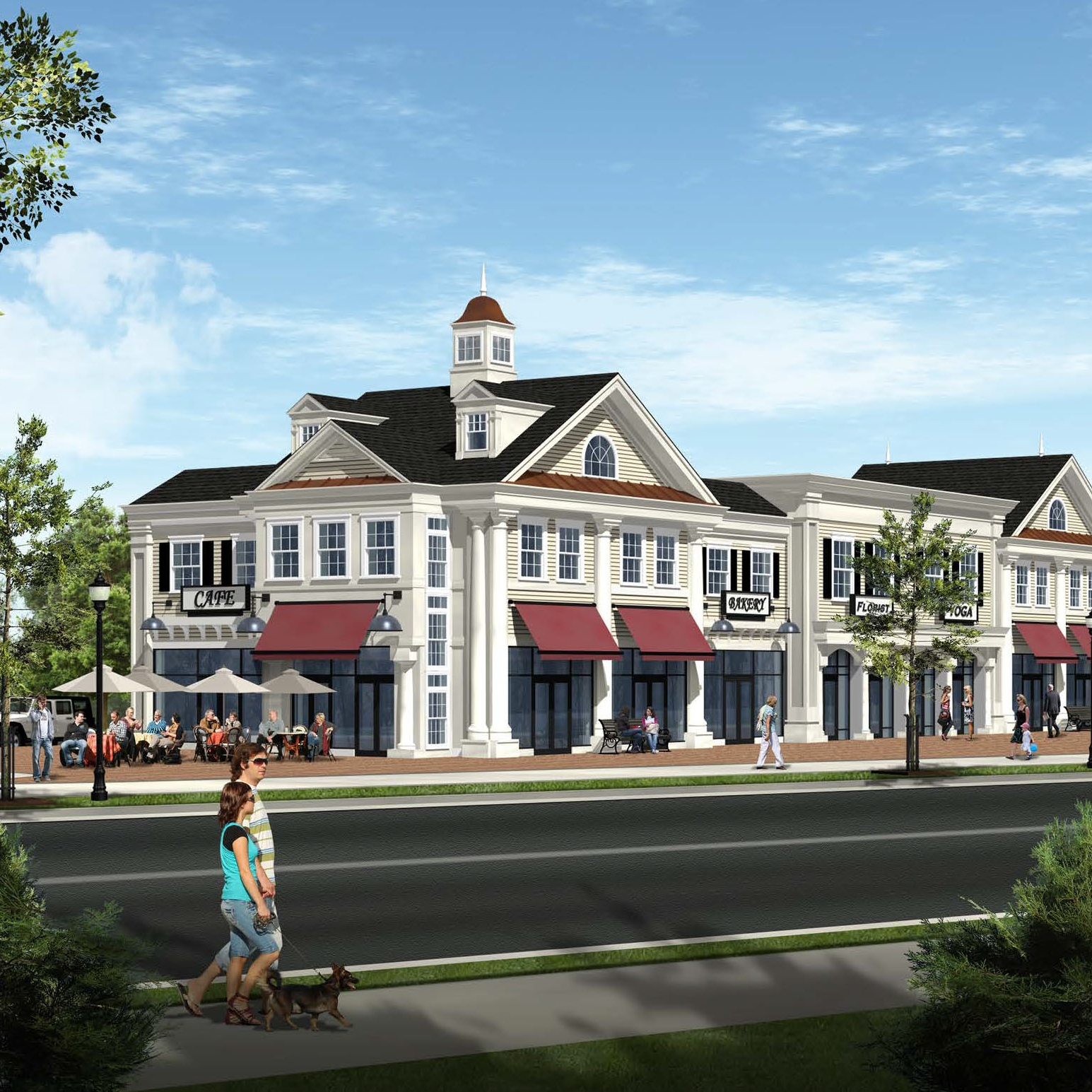Cranbury High Point, rendering by Zampolin Architects