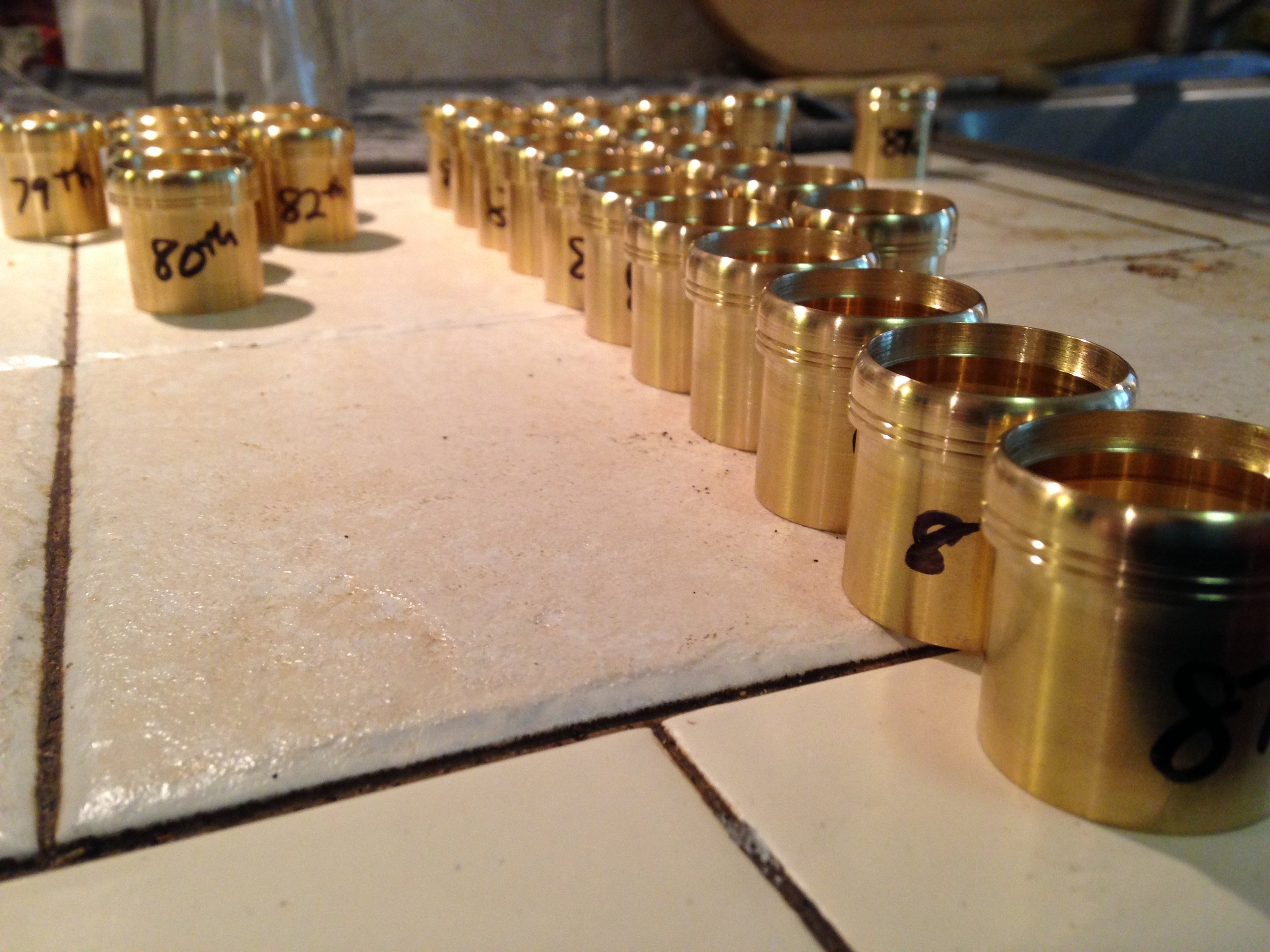 This is an order of neck tenons ready to ship out to KB Saxophone services, where their team will build out their KB Handcrafted Saxophone necks. Check them out at www.kbsax.com
