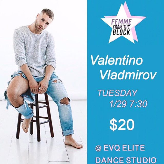 This Tuesday, 1/29! Catch our baby boi @vvladimirov at EVQ for one night & one night only! 7:30 pm. Hip Hop. Secure your spot in advance & sign up online (link in bio). Shoutout to our girls, @femme_block1750, for bringing him out! 🔥 😍