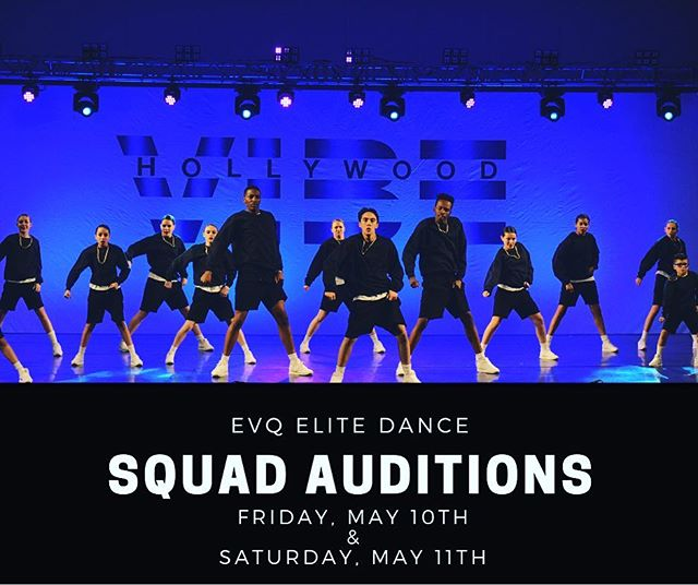 You asked and we delivered! Don't miss your chance to dance with EVQ's Squad for the 2019-2020 season! 🔥🔥🔥 Auditions will be held Friday, May 10th and Saturday, May 11th for dancers ages 5-18 years. Visit our website for more info and to register in advance! (Link in bio)