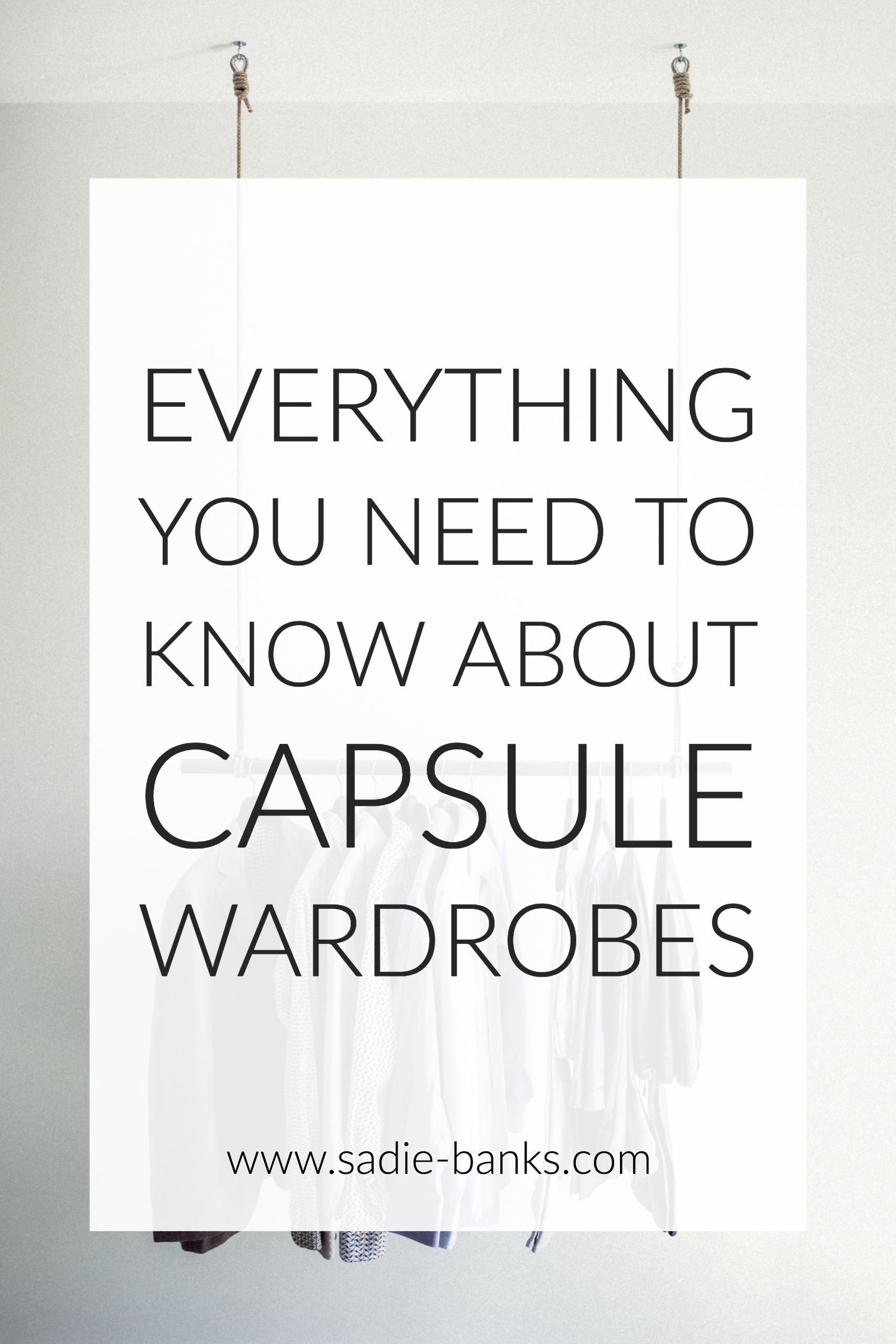 Capsule Wardrobe | Capsule Wardrobes how to build a | Capsule Wardrobe work | Sadie Banks Photography