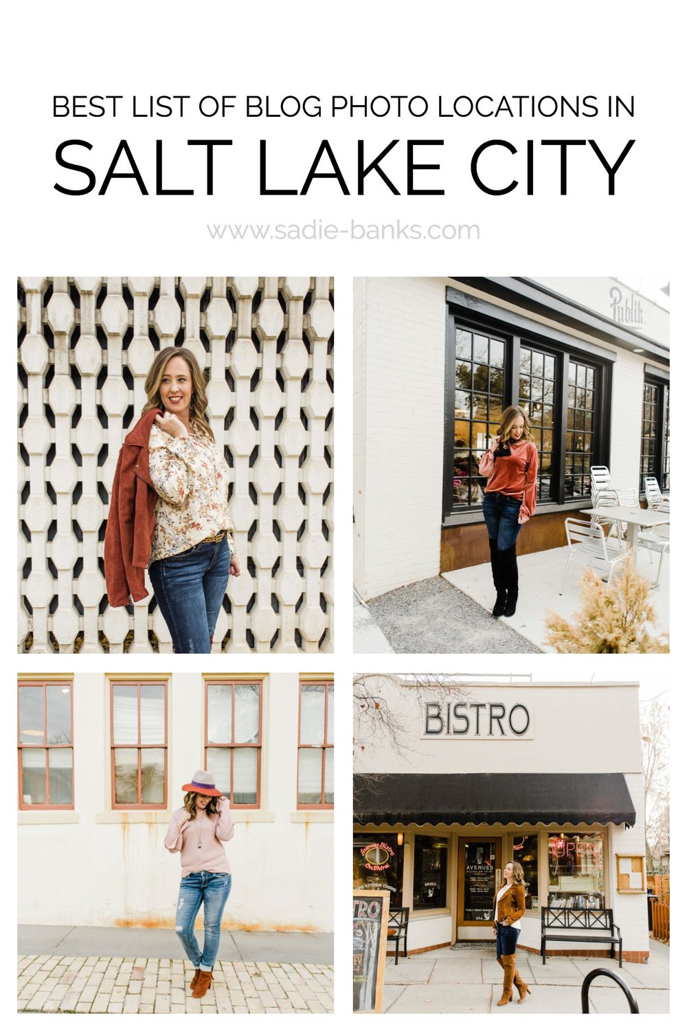 Best Photo Locations in Salt Lake City | Blog Photo Ideas | Style Blogger | Sadie Banks Photography