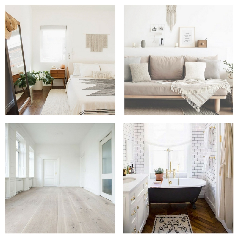 BEDROOM  |  LIVING ROOM  |  WOOD FLOORS  |  BATHROOM