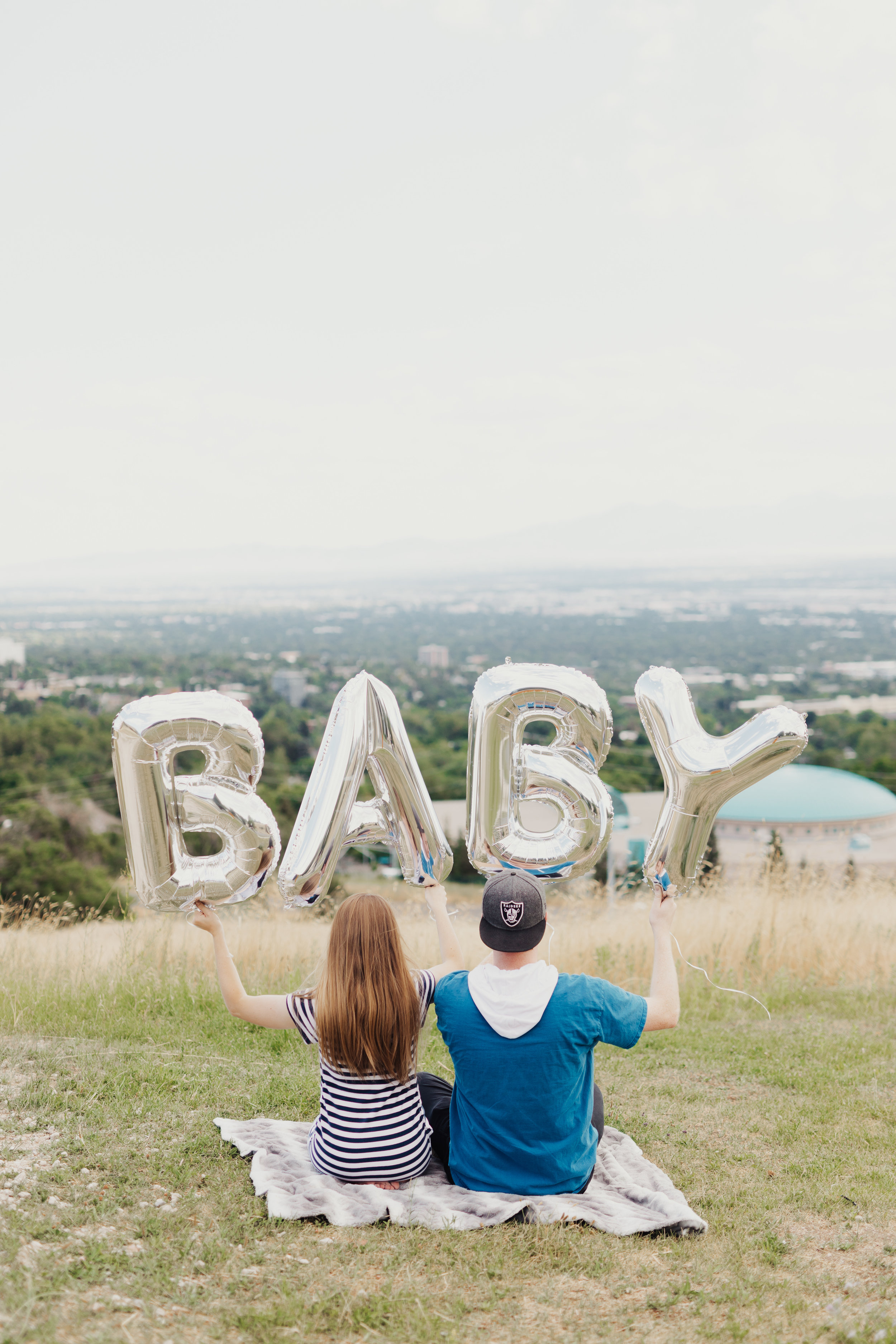 baby announcement photo