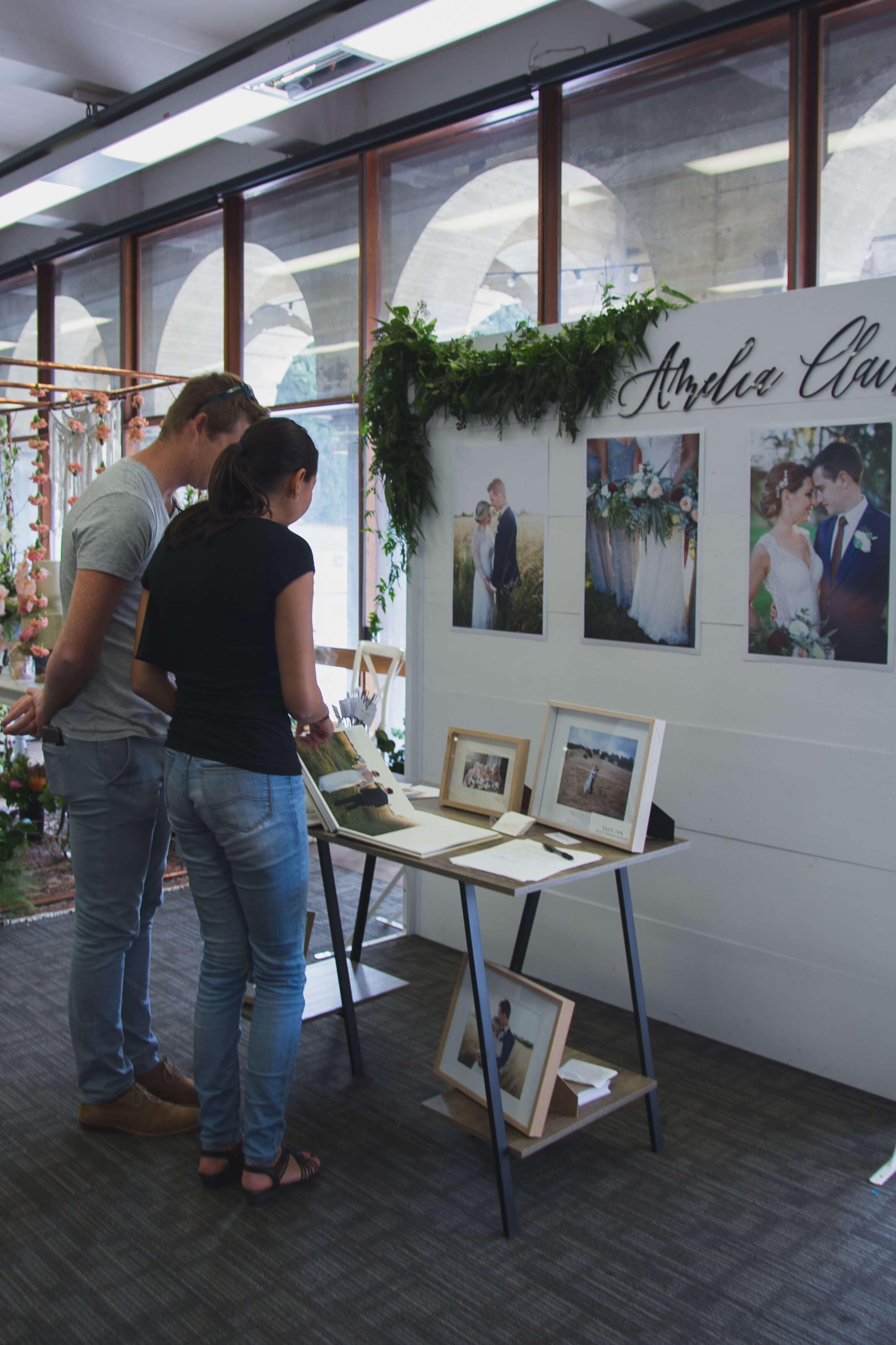 Couple wedding organizing photo book