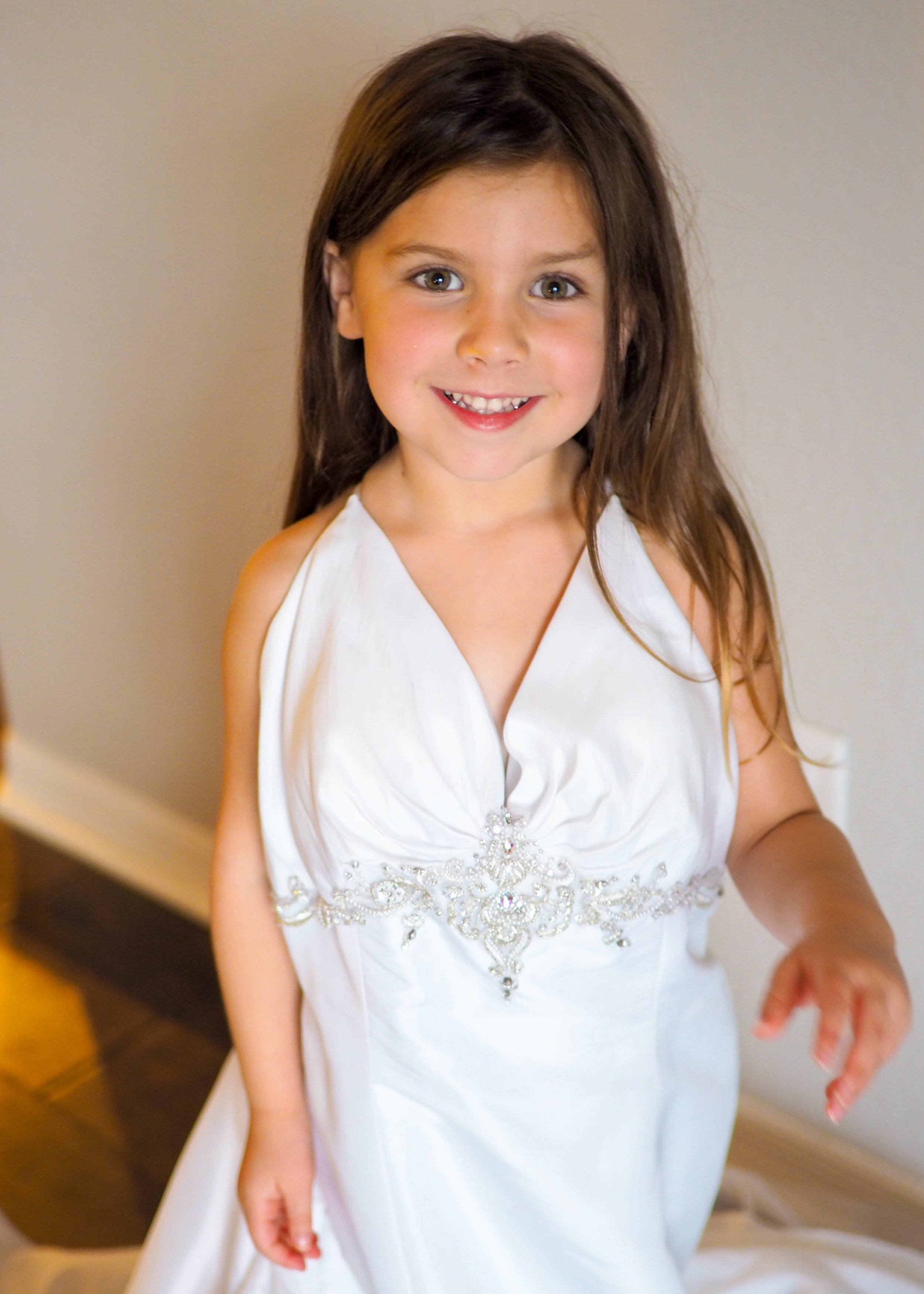 She loves wearing my wedding dress around the house <3