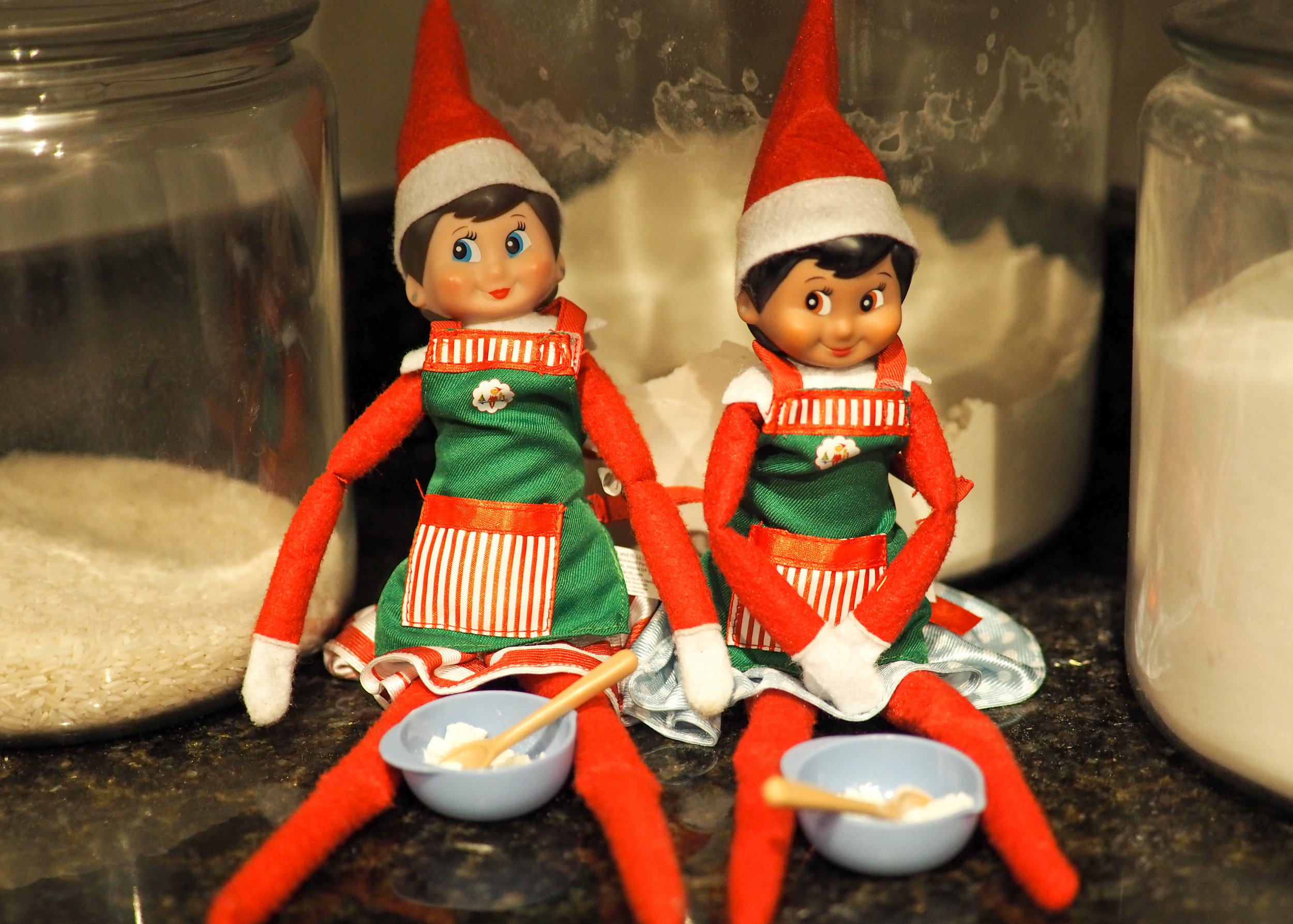 Our elves joined us in the baking festivities this year!