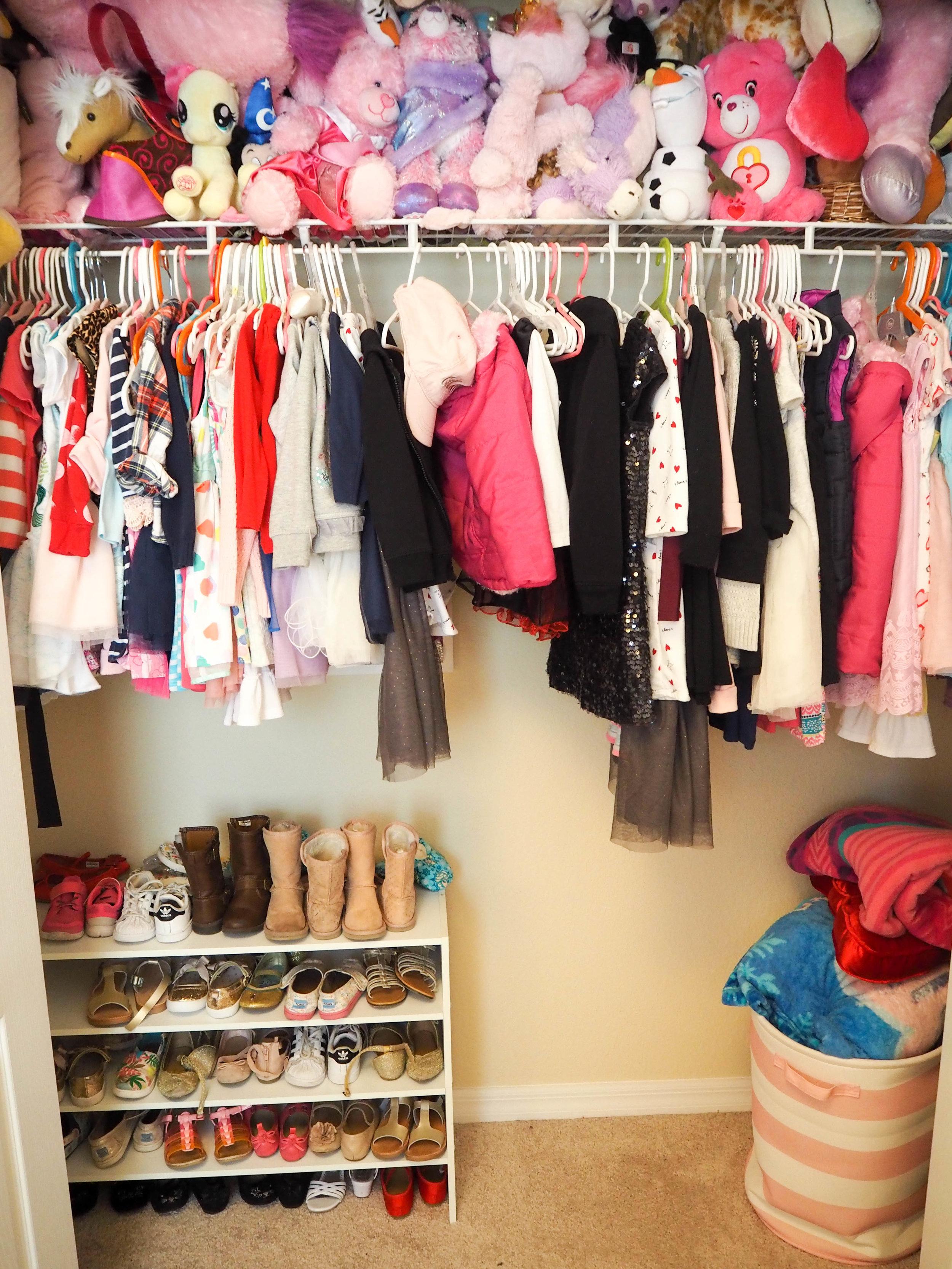 Shoe shelves stacked ,  bin