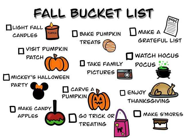 Our Fall Bucket List! 🎃🍂🍁👻 up on the blog, link in profile. . . . #meredithnicoleblog #blogger #blog #lifestyleblogger #fall2019 #fallbucketlist #procreate #ipadlettering #ipaddoodles