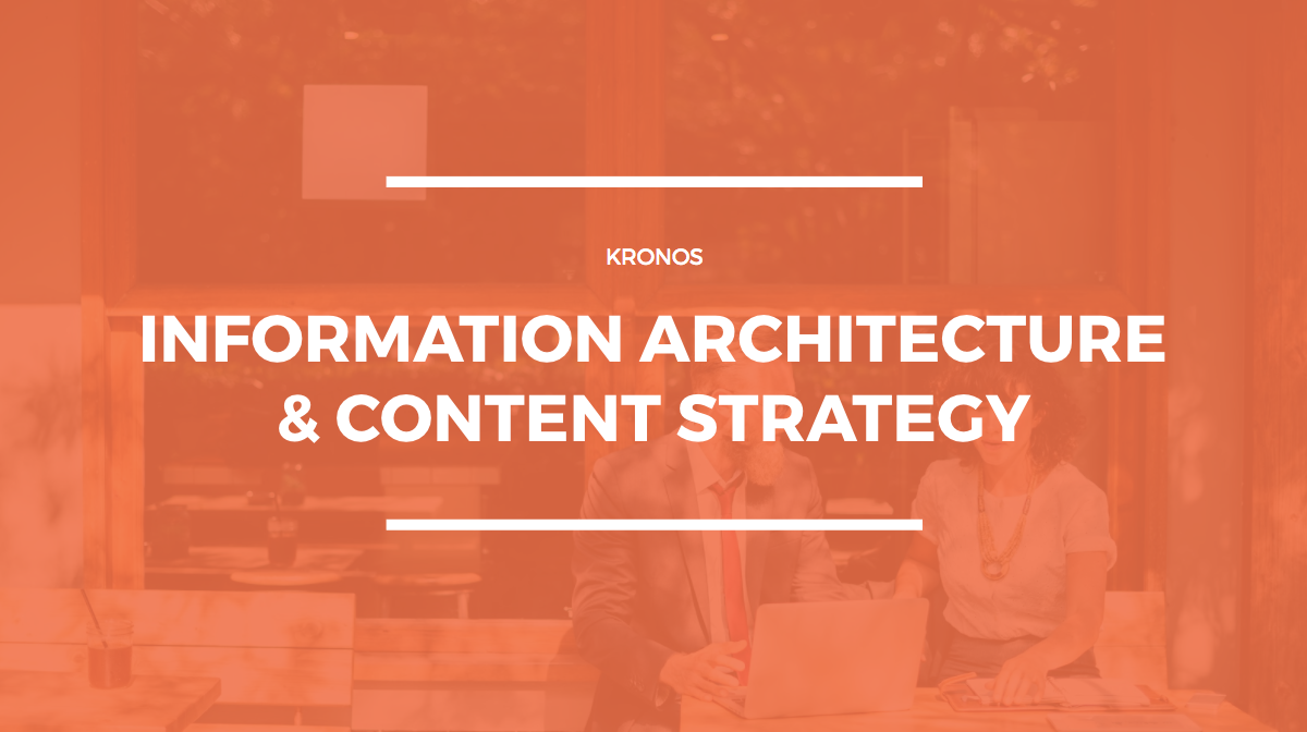 Guide users with intuitive information architecture. -
