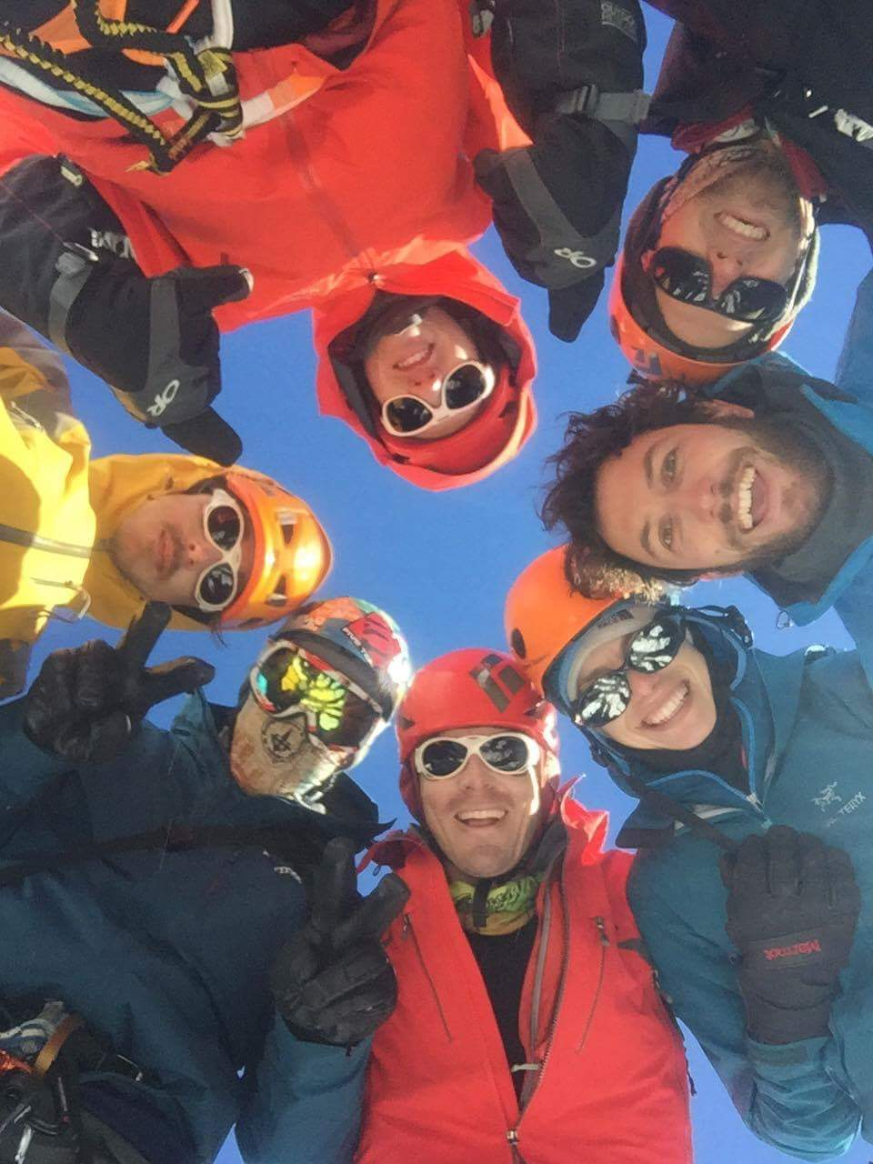 The crew from Blue Lake on our one bluebird day. Great people make all experiences more memorable.