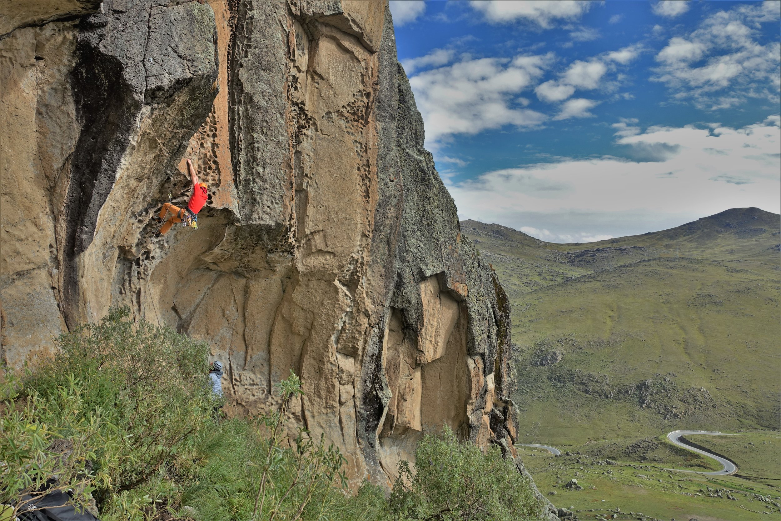 Enjoying some steep climbing at an altitude of 4,000m sure takes your breath away!