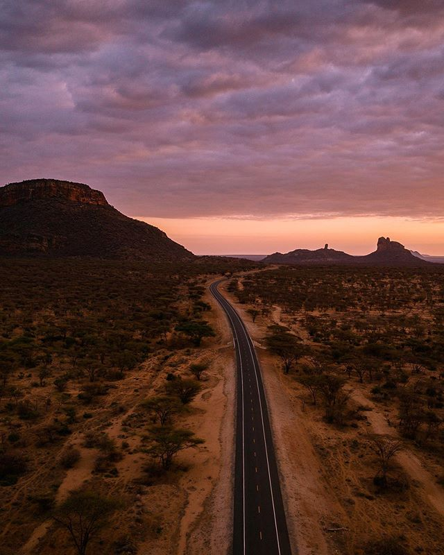 "This road lead to ""a place of beauty"" in the Samburu language. Sabace is located on a private conservancy which is owned and operated by an indigenous Samburu tribe; a pioneer in sustainable and community based eco-tourism. ✨ // Do you ever think about the roads you've taken? How they represent mental and physically pathways? How it was formed, where it lead you, the souls encountered along the way and the ones who had been there before you? Some journey's shake you - everything you thought you knew is now different. Dancing, singing and feeling the love and the land here changed a piece of me. 💫 // Some musings. Xx Recent trip to Kenya with @intrepidtravel #beintrepid"