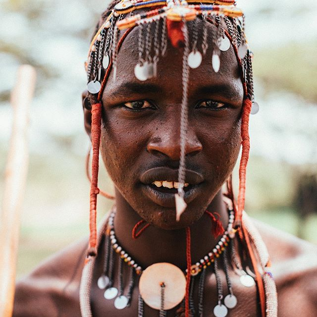 """Even something small can change somebodies life forever."" - Helen Nyurakaiya, Maasai Mara. ❤️ // Meet some of the warriors of the Maasai who still in training, meaning they are responsible for protecting their livestock and their community. These particular young men though, they are helping to protect an all women community working towards ending FGM & forced marriages by providing young girls with an education. - - A life changing story and experience in Kenya with @intrepidtravel #beintrepid."