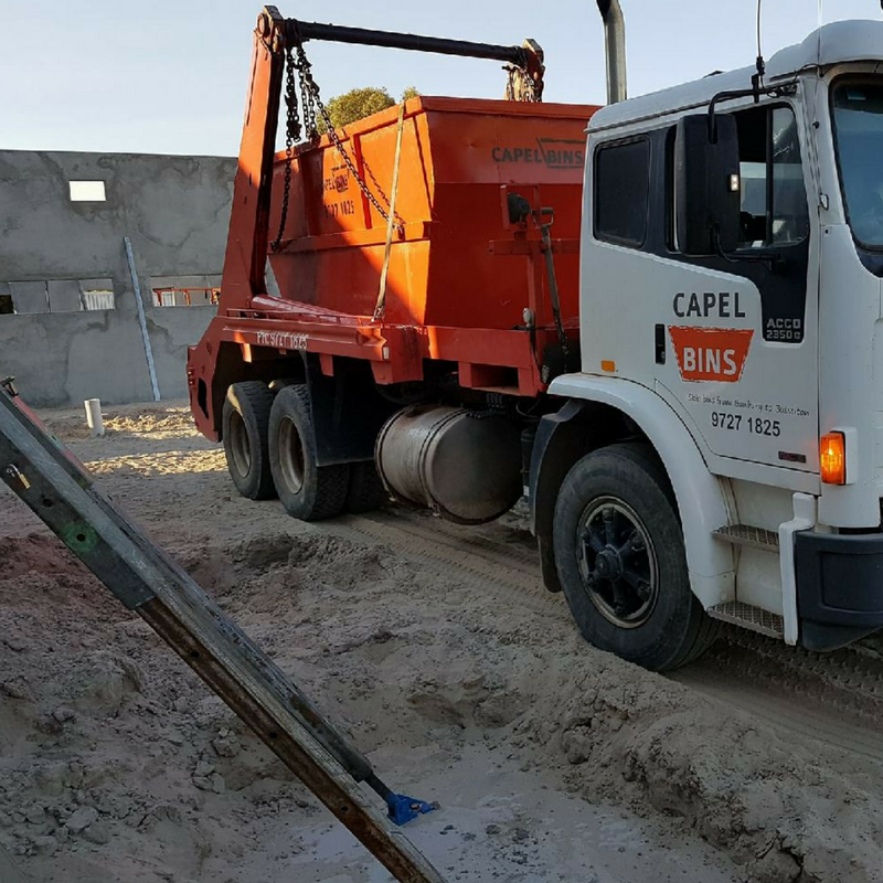 Sand   Left over or dug up sand can be removed in Capel Bins. If you are need the leftovers taken away at the end of your project, give us a call so we can have a chat about getting it out of your way.