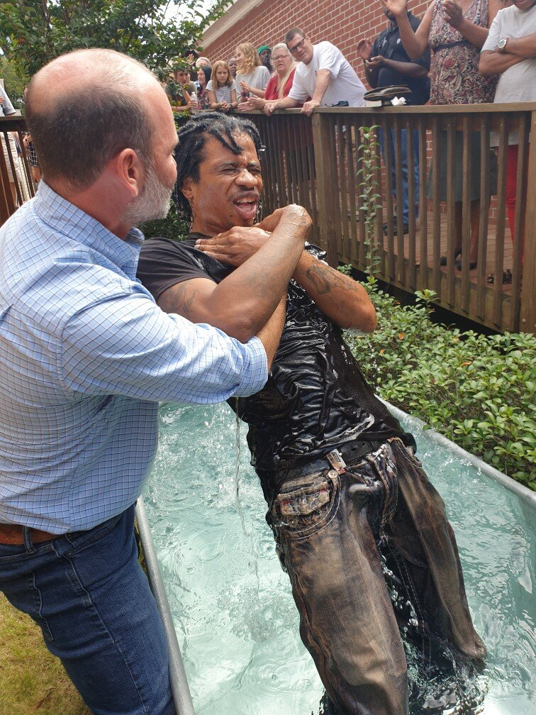 Ronald Walker got baptized today.