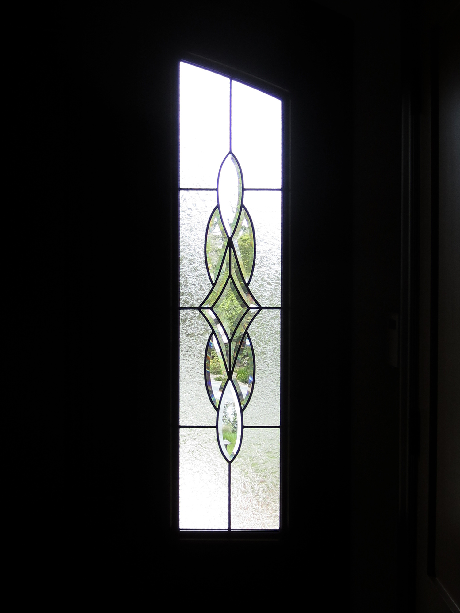 bevel cluster double glue chip glass beveled leaded glass stained glass window palo alto atherton california san francisco.jpg