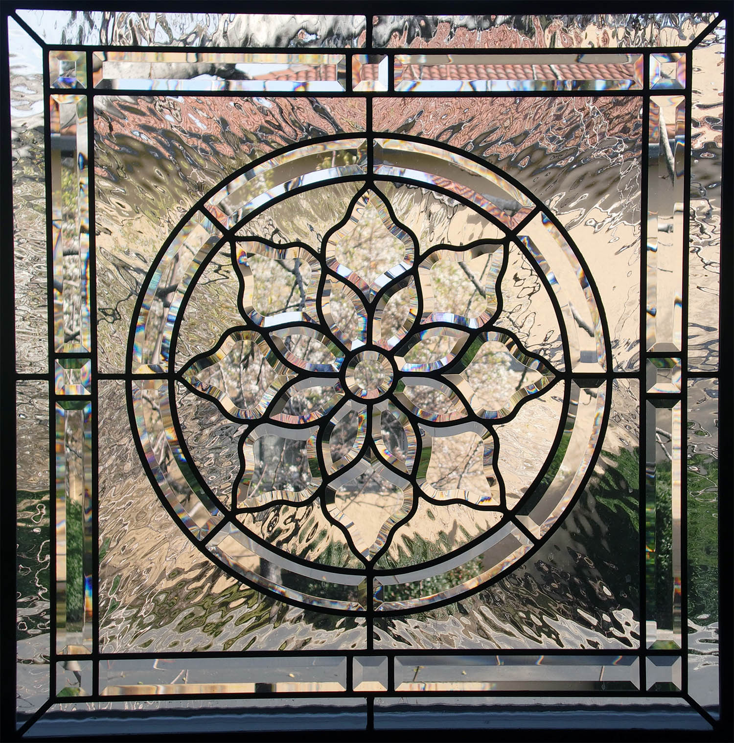 bevel cluster flower pencil bevel water glass beveled leaded glass stained glass window palo alto atherton california san francisco.jpg