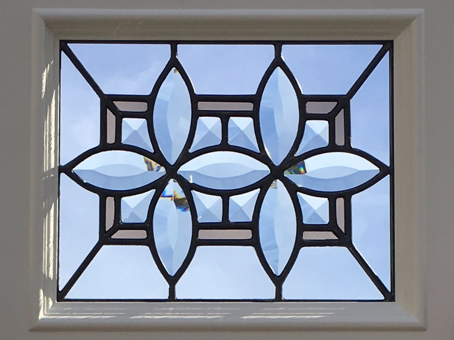 bevel cluster flower cabinet door beveled leaded glass stained glass window palo alto atherton california san francisco.jpg