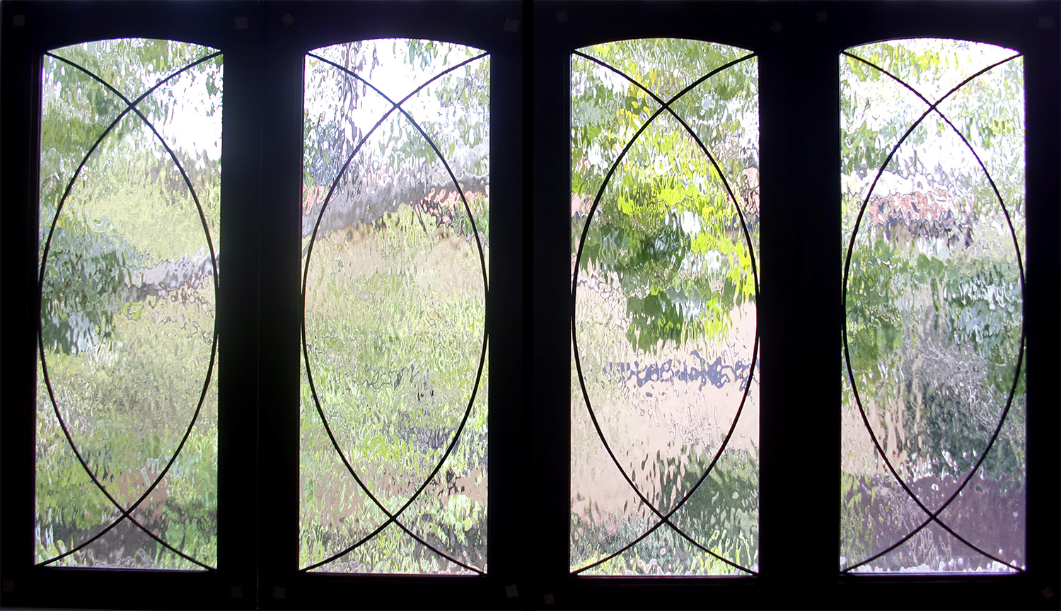 water glass geoemtric clear texture leaded glass stained glass window palo alto atherton california san francisco san jose legacy glass.jpg