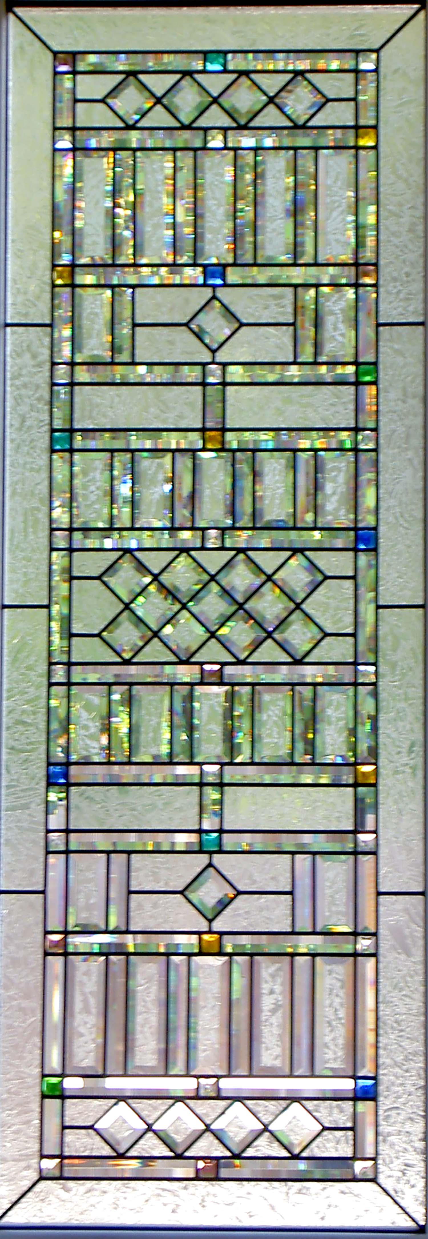 pencil bevel double glue chip clear texture leaded glass stained glass window palo alto atherton california san francisco san jose legacy glass2.jpg