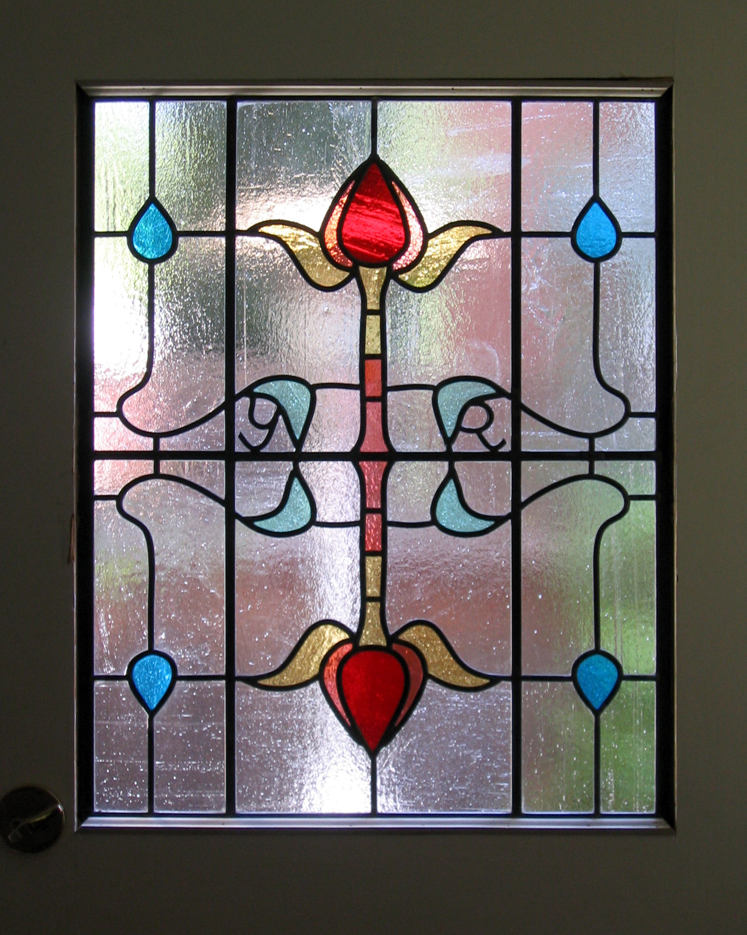 symmetrical flower floral craftsman leaded glass stained glass window palo alto atherton california san francisco san jose.jpg