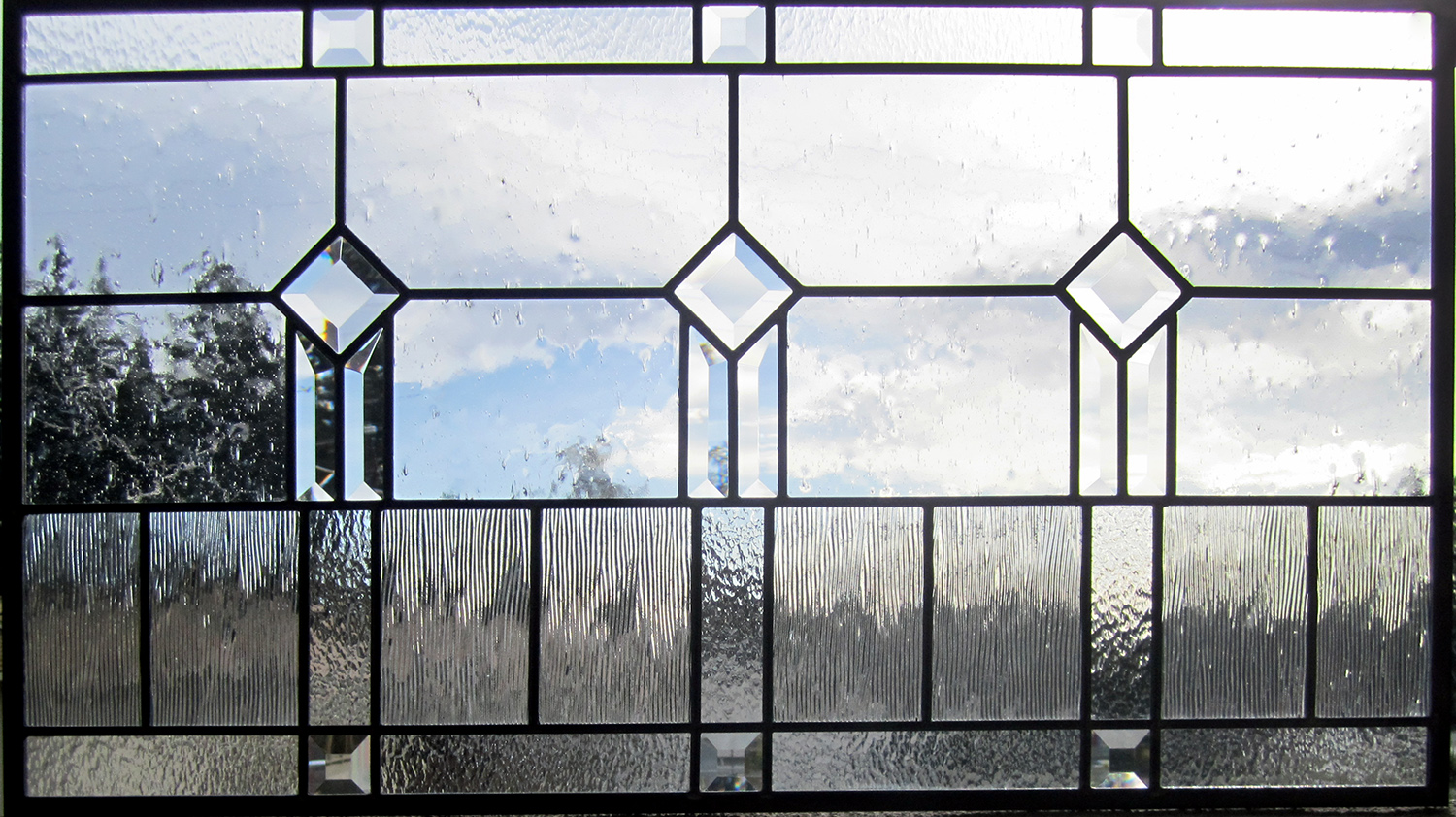 beveled square pencil bevel seedy corded clear texture glass craftsman leaded glass stained glass window palo alto atherton california san francisco san jose.jpg