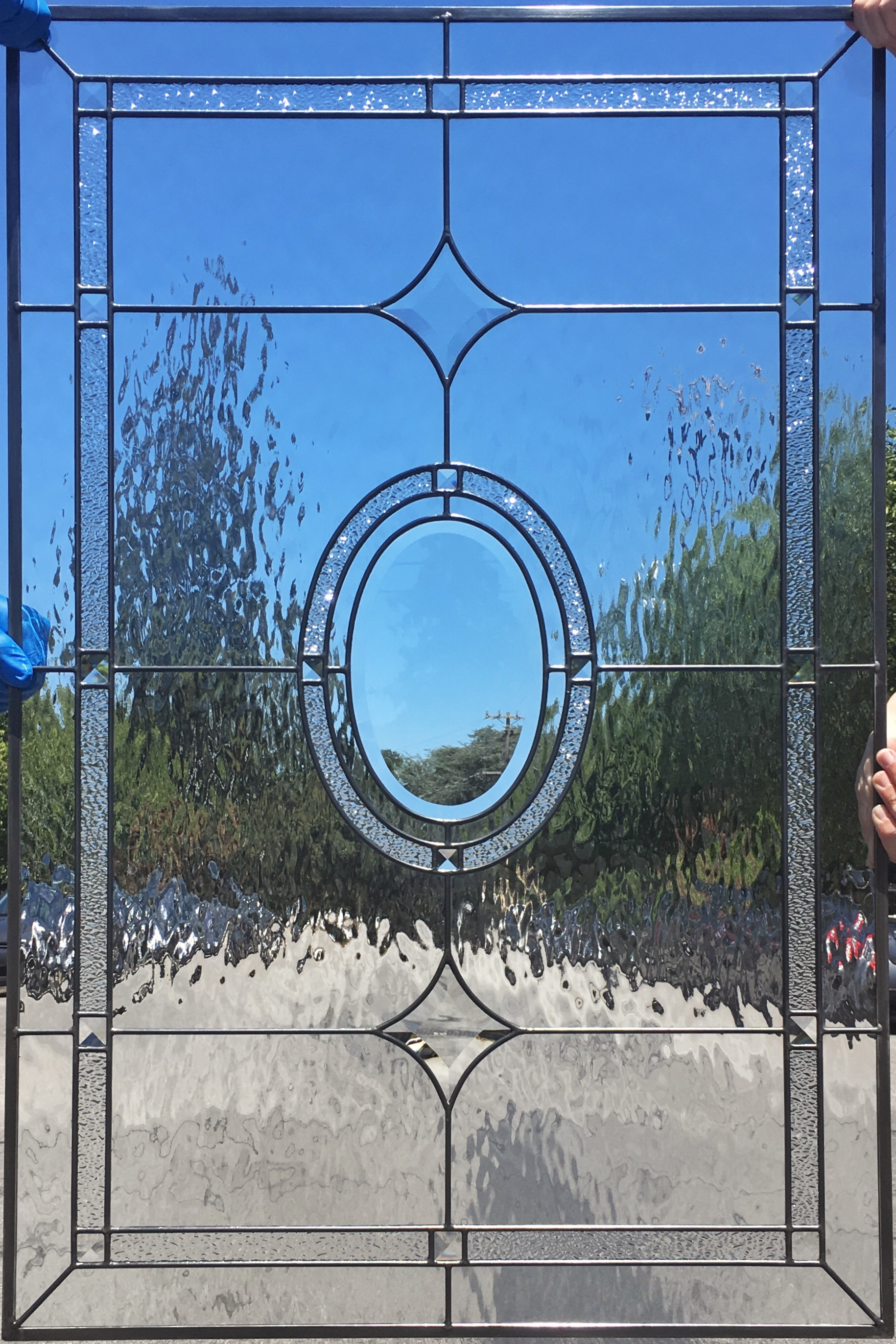 traditional classic design leaded glass beveled crystal ice water glass stained glass legacy glass atherton san jose menlo park san francisco california.JPG