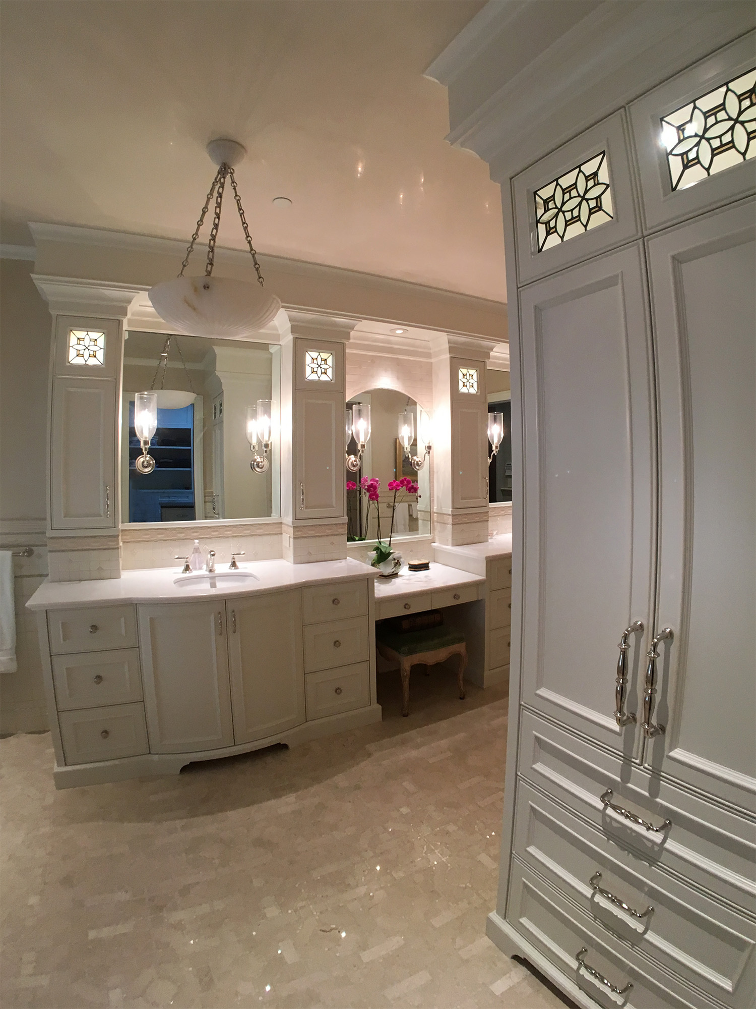 bevel cluster traditional leaded glass stained glass cabinet door studio palo alto atherton california san francisco san jose legacy glass.jpg