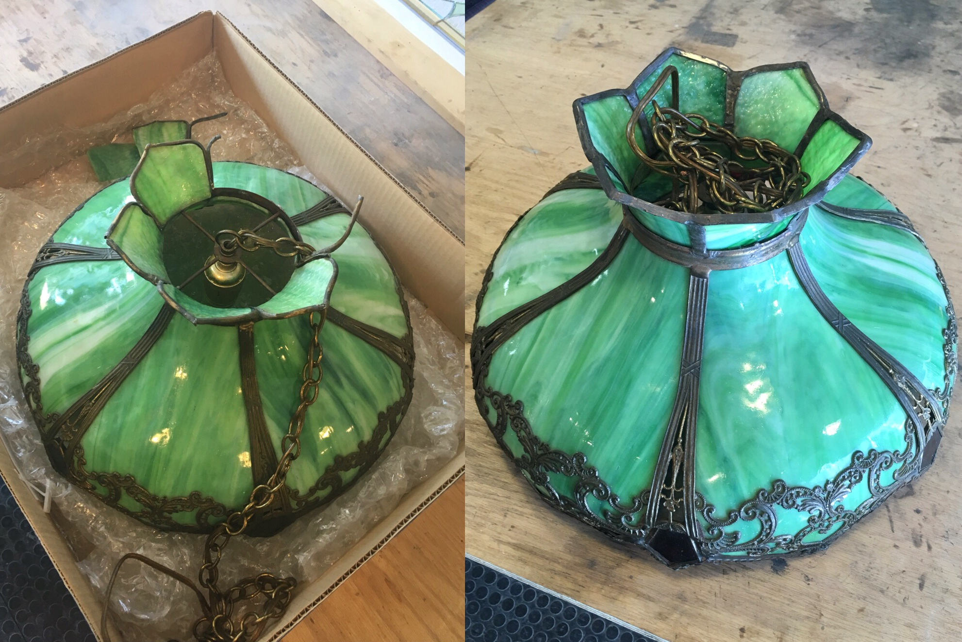stained glass leaded glass design legacy glass studios menlo park bay area california glass lamp repair before and after.jpg