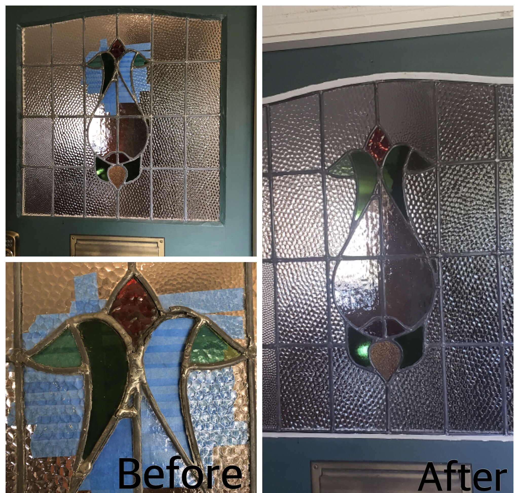 stained glass front door repair before and after bubble glass legacy glass studios california.jpg