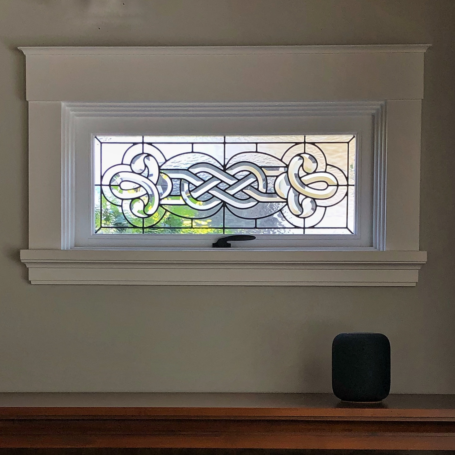 celtic knot leaded glass infinity bevels legacy glass studios los altos california custom design stained glass privacy window high end homes craftsman style window.jpg