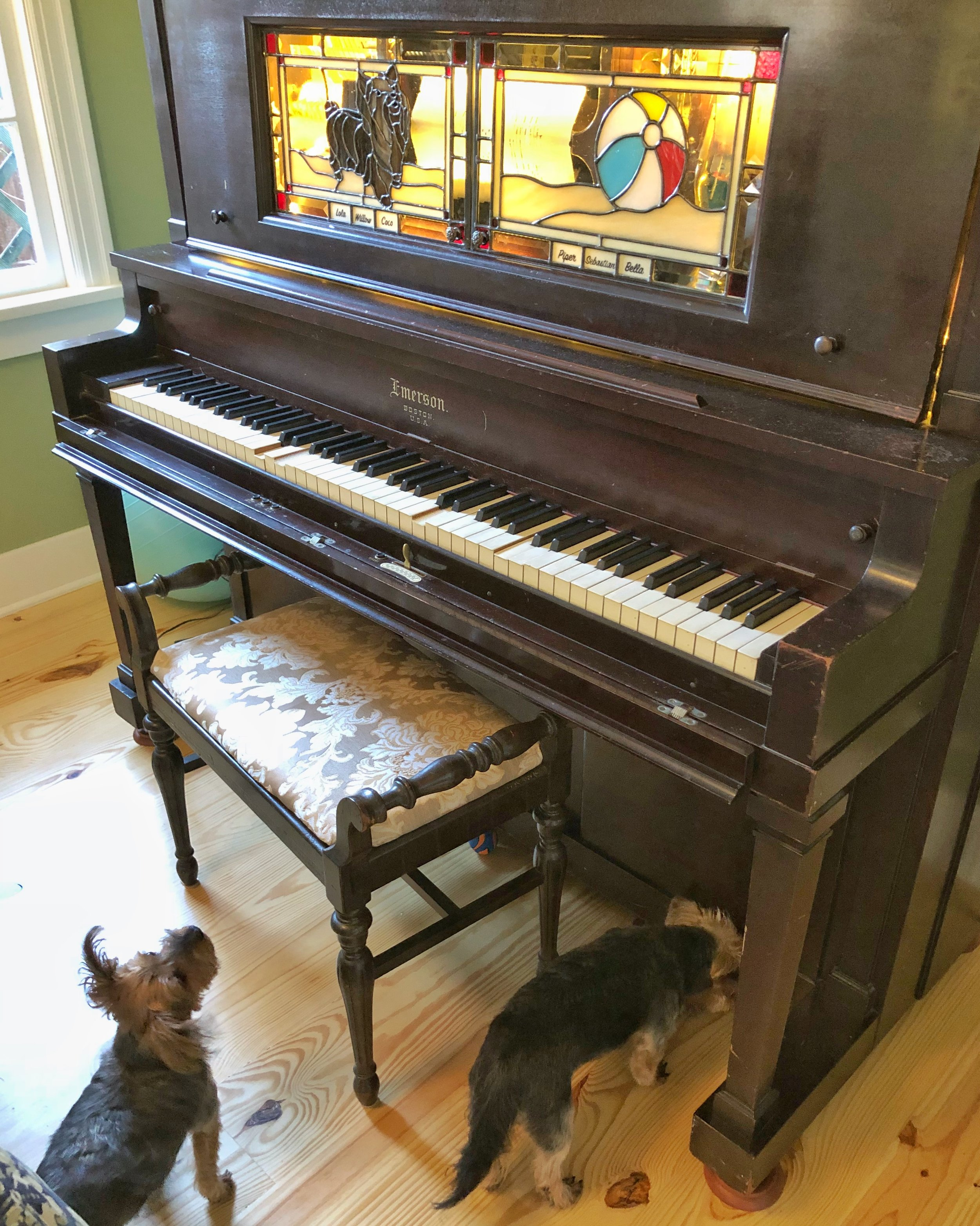 Sliding Player-Piano Doors - Puppies