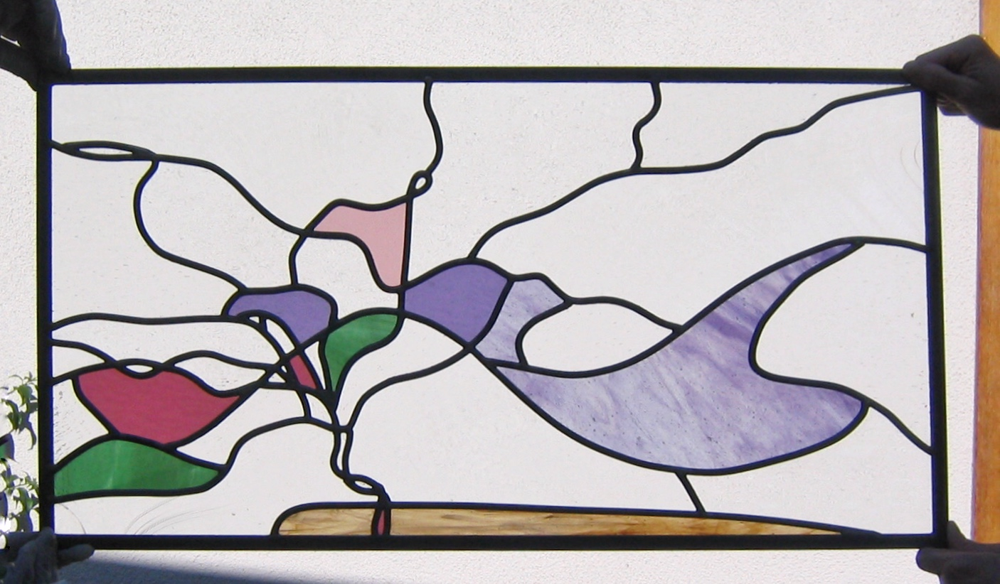 abstract custom stained glass floral design wavy lines clear translucent colorful fun.jpg
