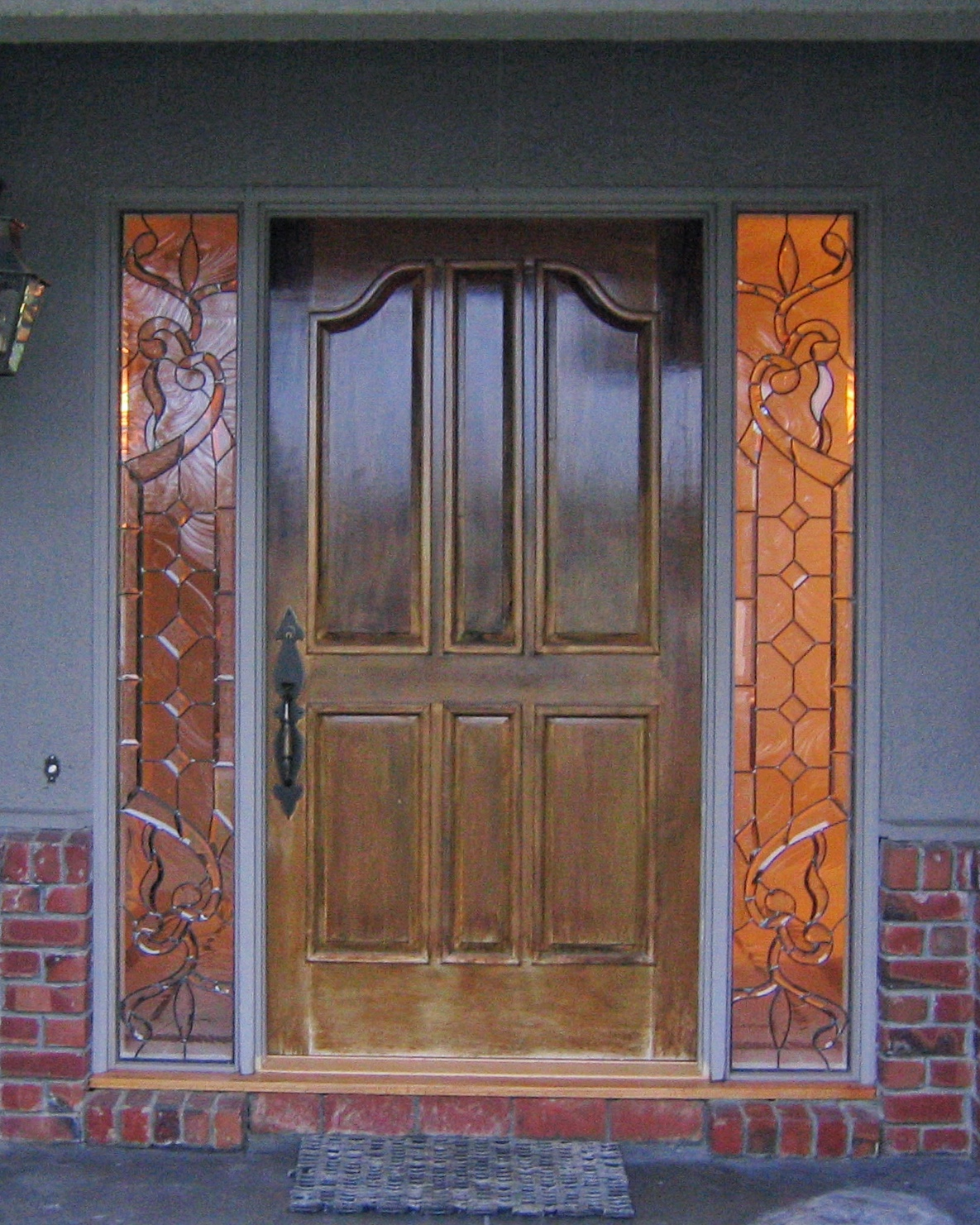 custom leaded glass sidelight inserts window custom bevels bevel cluser diamond glass curved abstract asymmetrical design legacy glass studios privacy obscure clear textured glass exterior.jpg