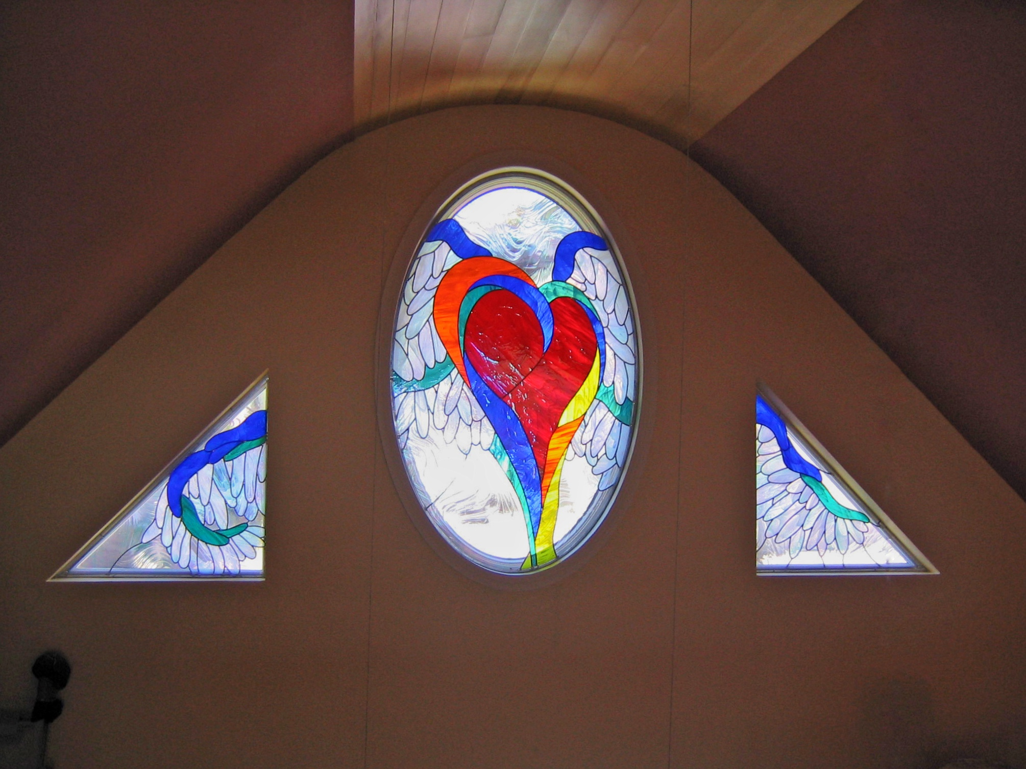 A local artist wanted their drawing made into stained glass for their home