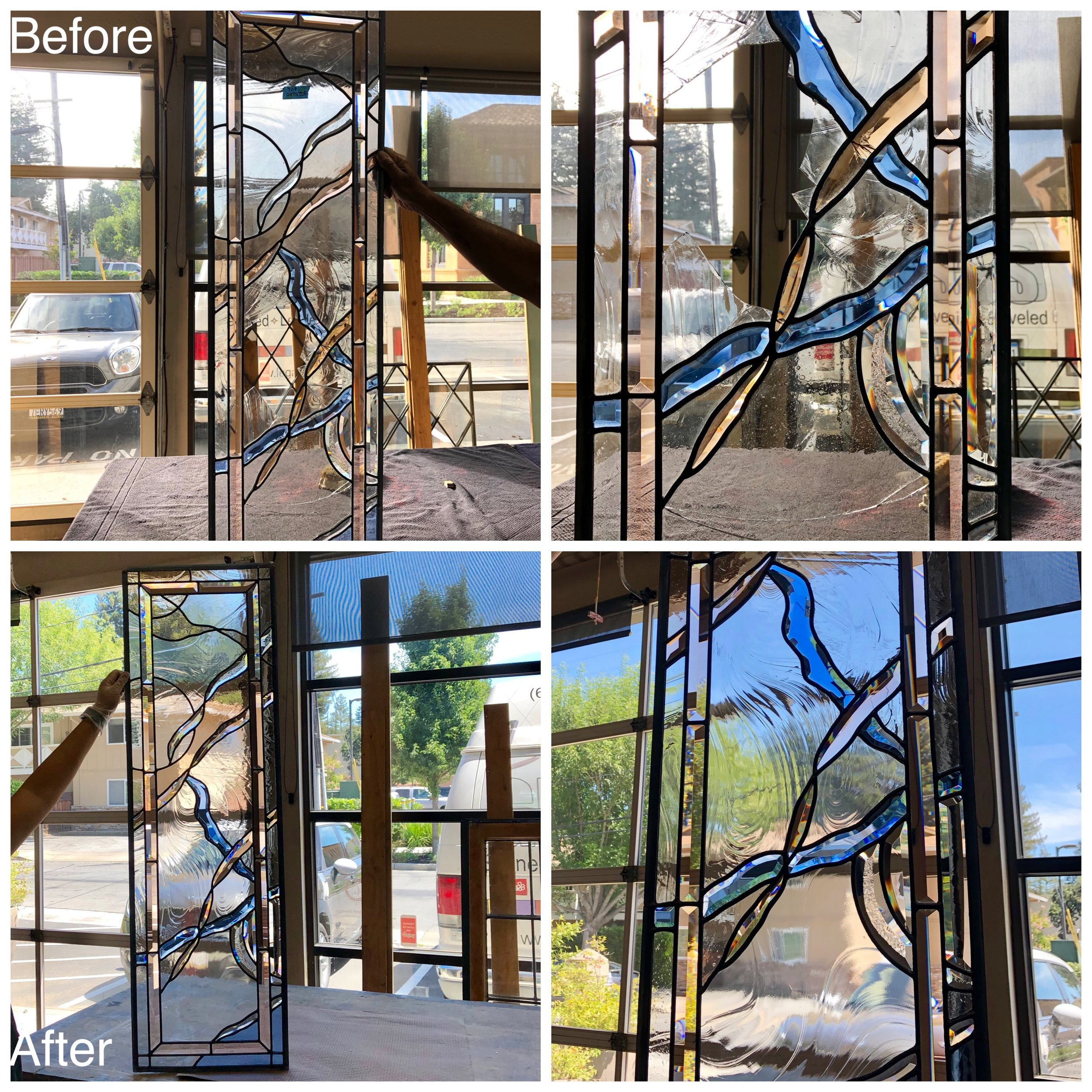 stained glass repair bay area legacy glass studios broken colored bevel clear texture front door.jpg