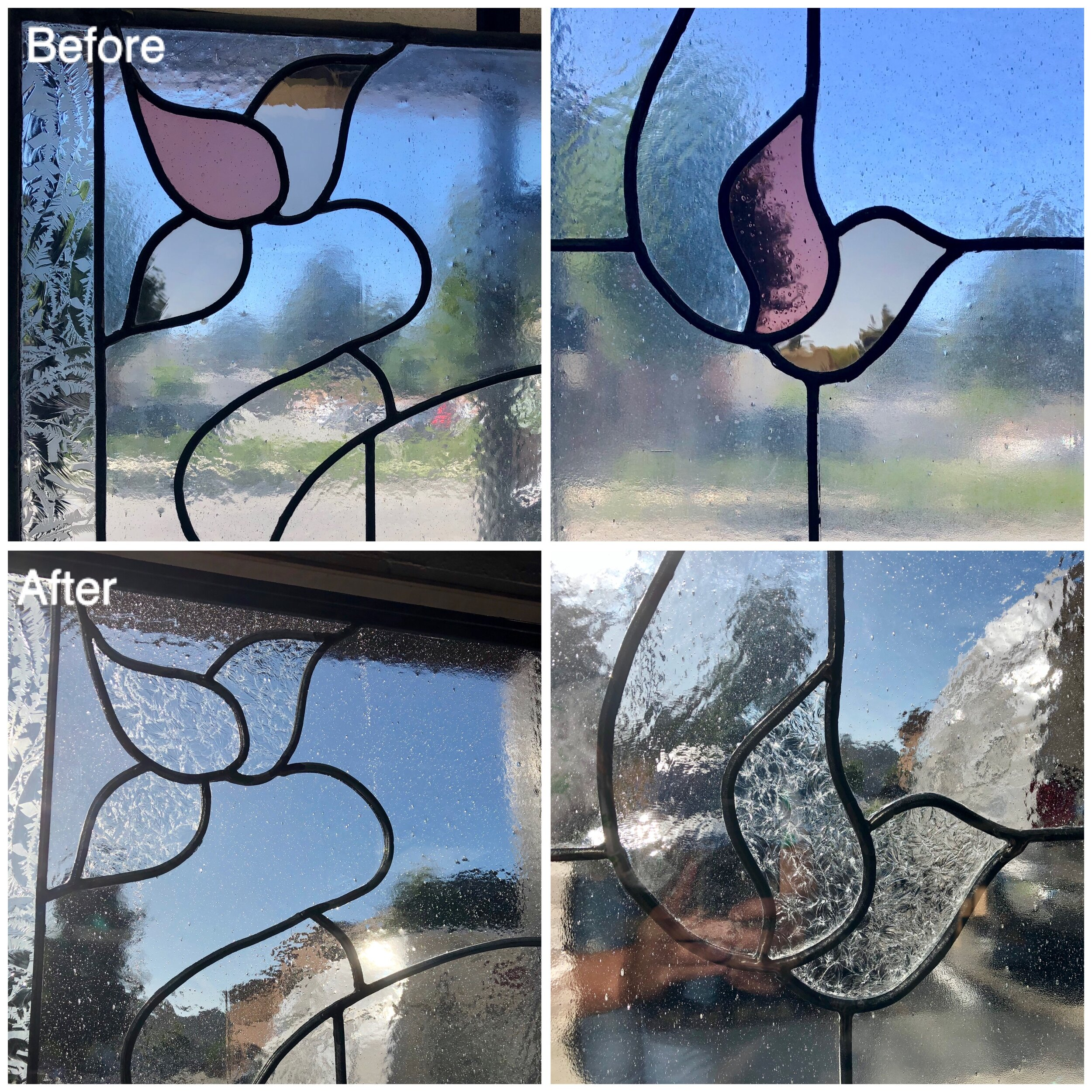insulated leaded glass stained glass replacement california legacy glass studios leaves clear texture side light front entry way.jpg