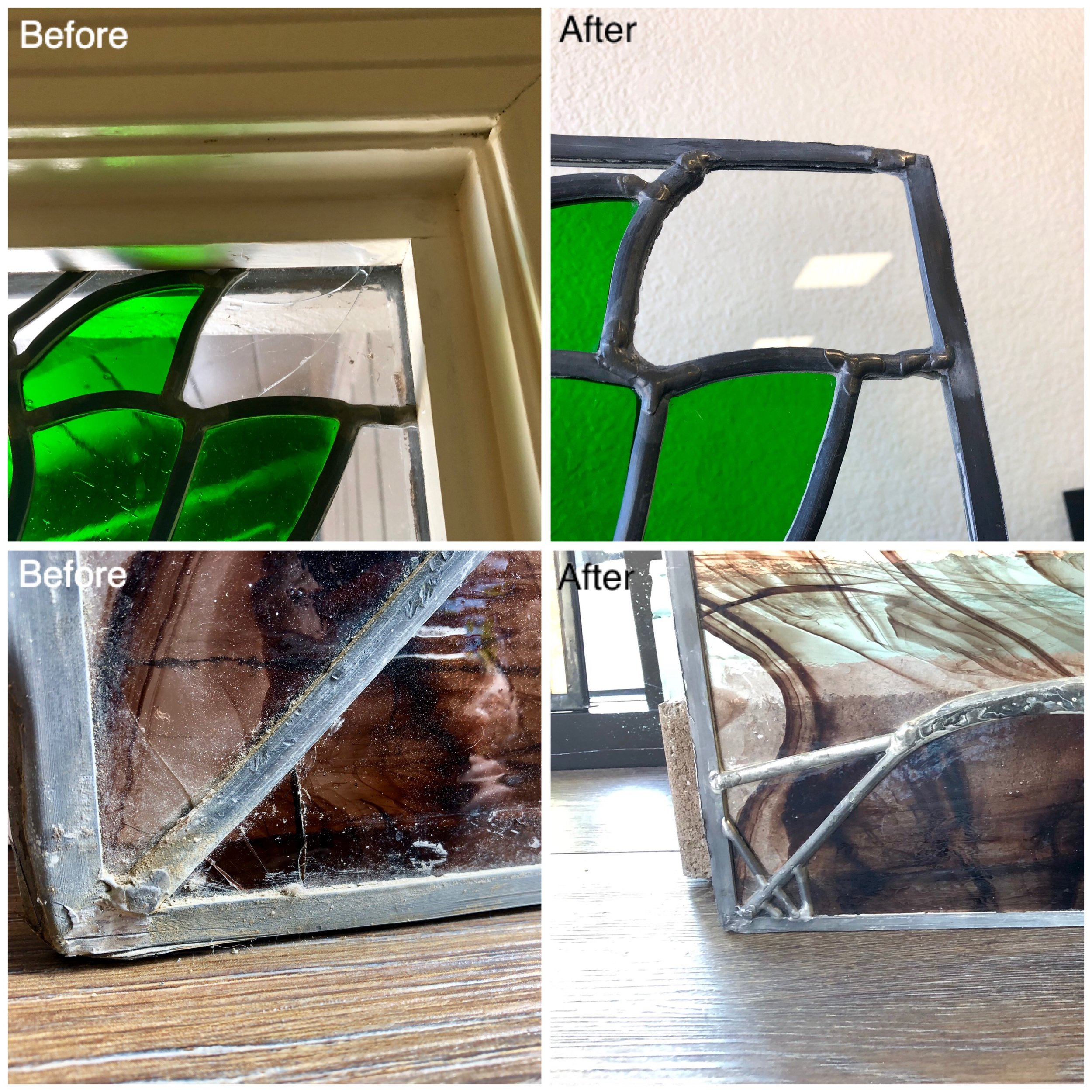 leaded glass stained repair studio design bay area legacy lead line metal glass lead vintage antique cracked.JPG