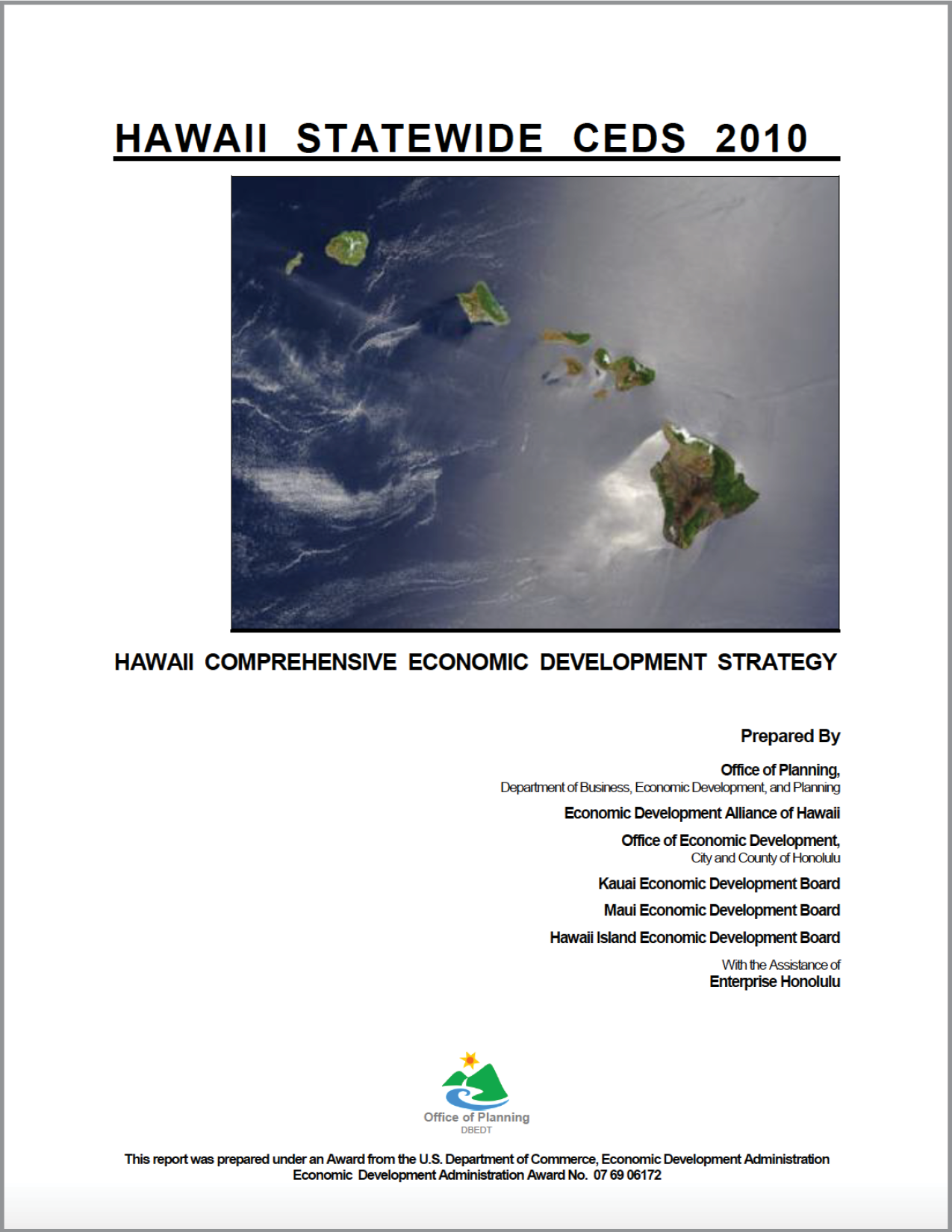 Click to view the CEDS 2010-2015 Strategic Plan.