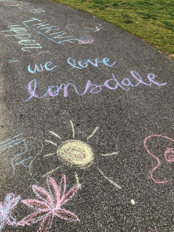 Thrive Upper Sidewalk Art