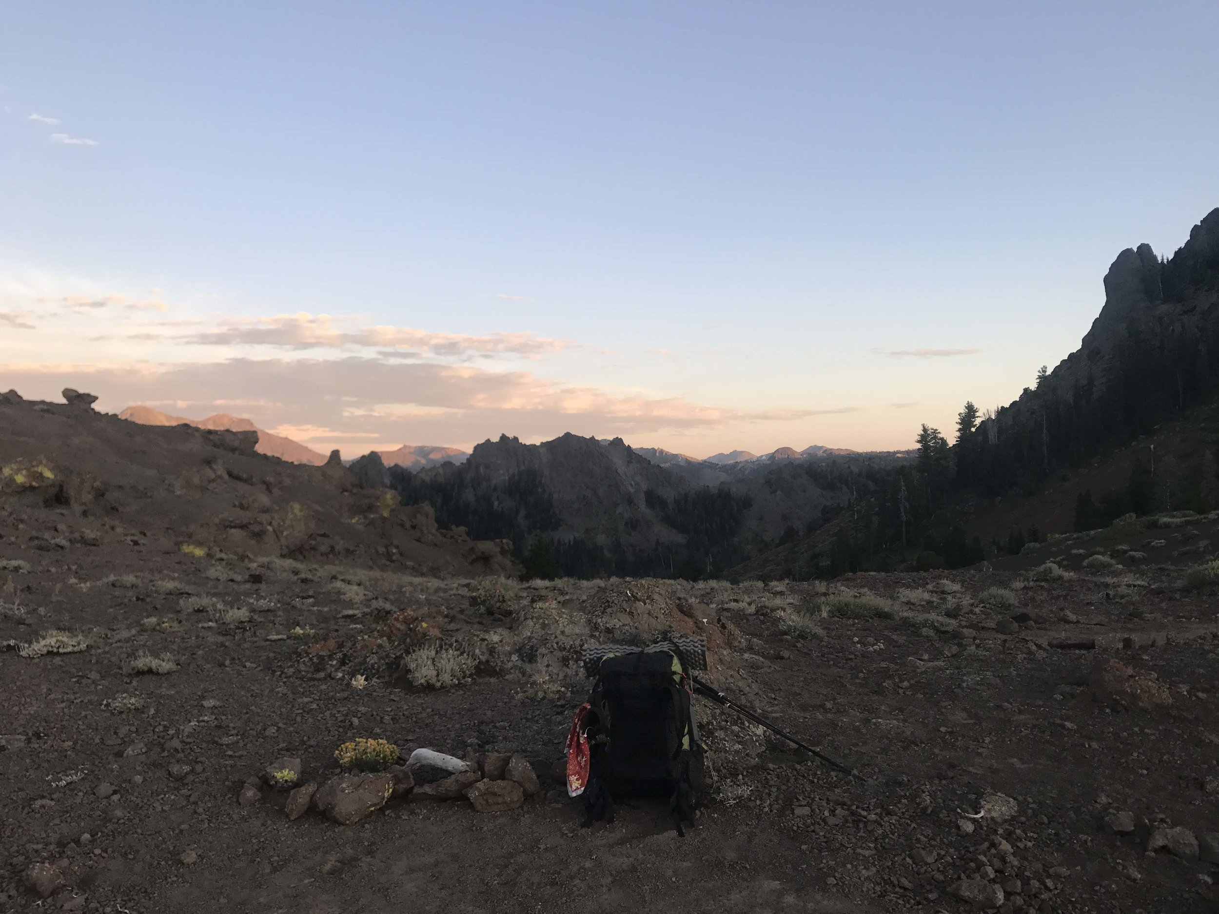 View from my campsite looking south to where I came from…