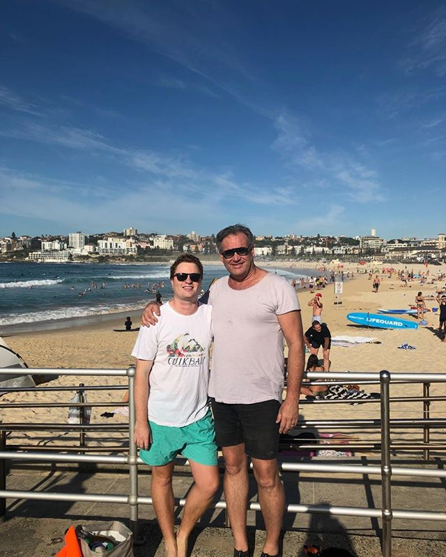 A PB for Nick Allen today - first 5 km open water swim Coogee to Bondi - nailed it