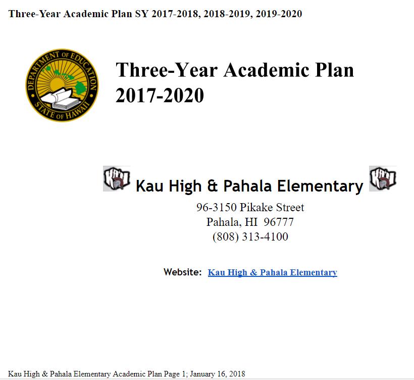 KHPES Academic Plan