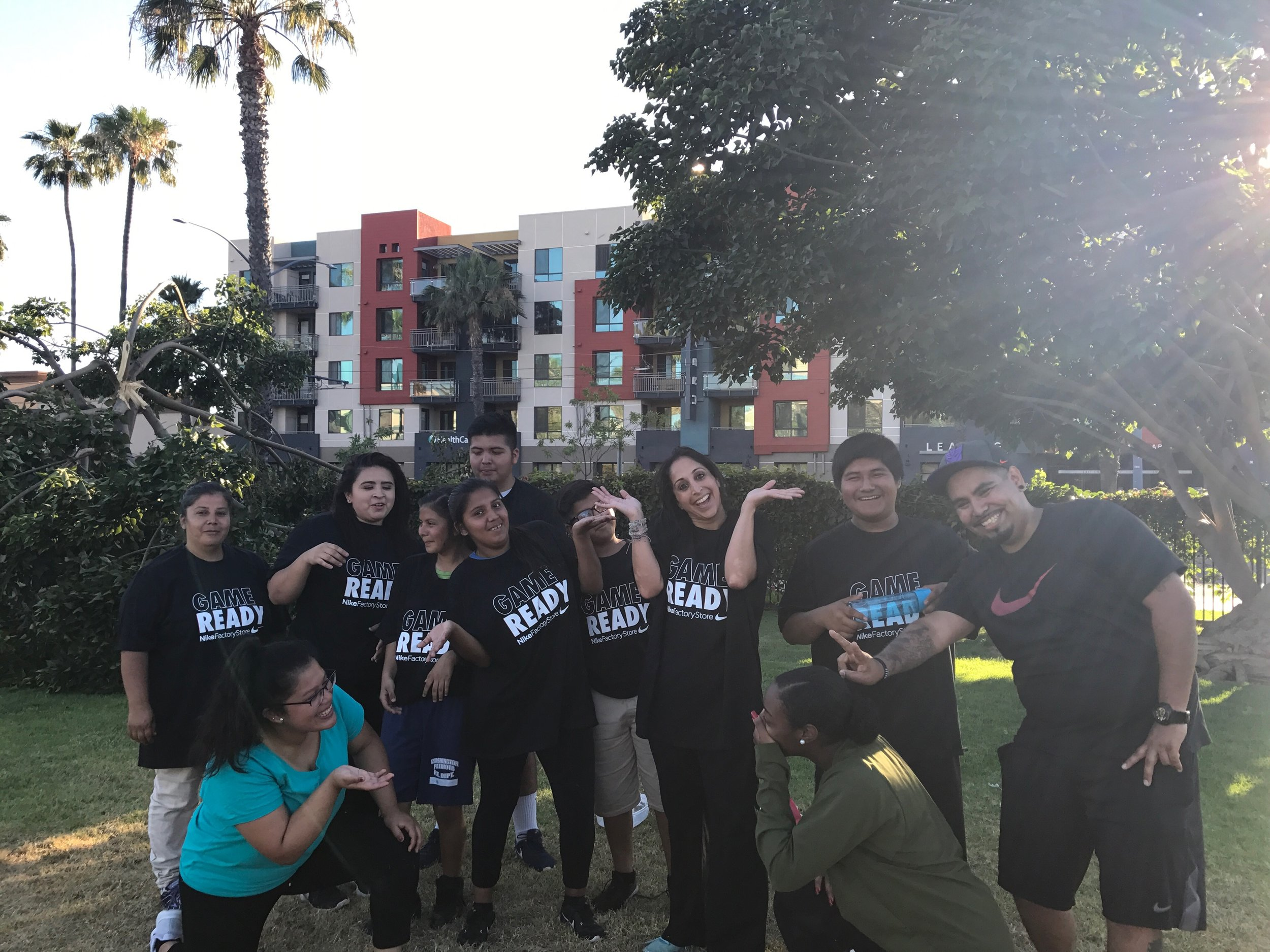 Fit and Fun Support Group with Nike! - Had a blast playing soccer with our group!