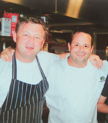Steve with Chef Luke Mangan.