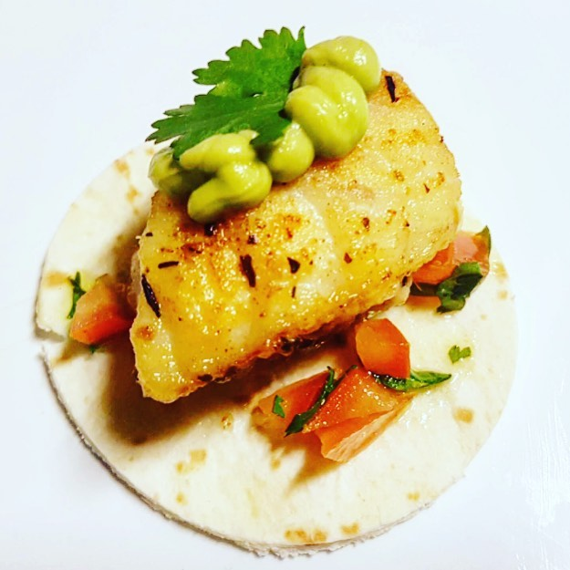 Cajun Spiced Fish Tacos with Guacamole and Tomato Salsa are a delicious choice for Fish Friday 🐠 #samphirecateringperth