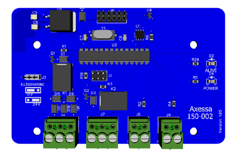 Fjärrkontroll interface för integration av RF fjärrkontroll i passagesystem.